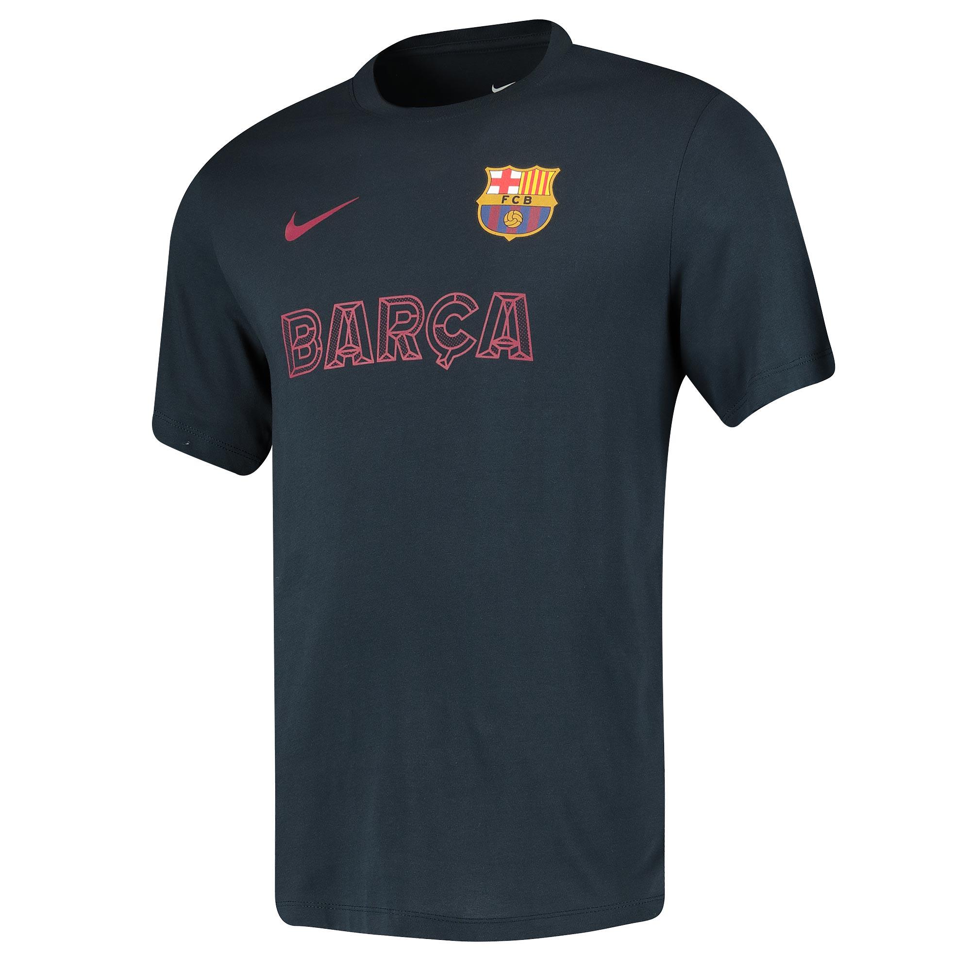 Tee-shirt de match Barcelone - Bleu foncé
