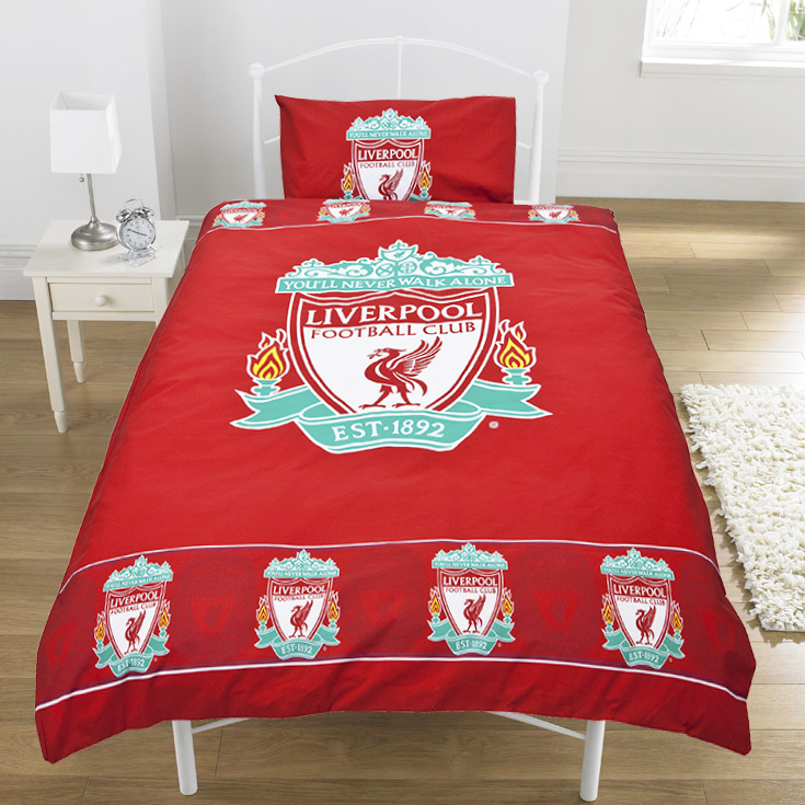 Liverpool FC Single Duvet (Stipple Border)