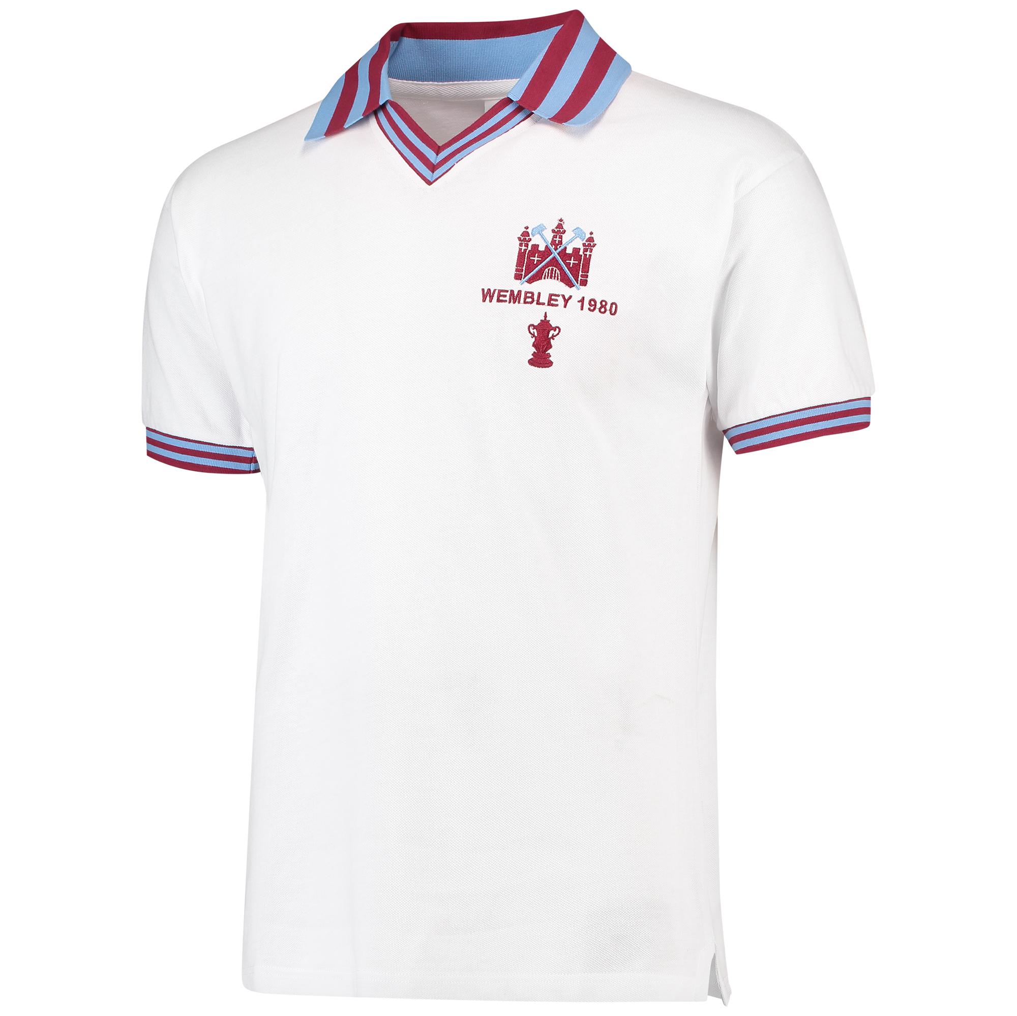 Camiseta West Ham Utd 1980 FA Cup Final - Blanco