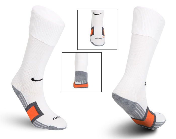 Nike Pro Football Over The Calf Sock - White/Carbon Heather/Deep Orange