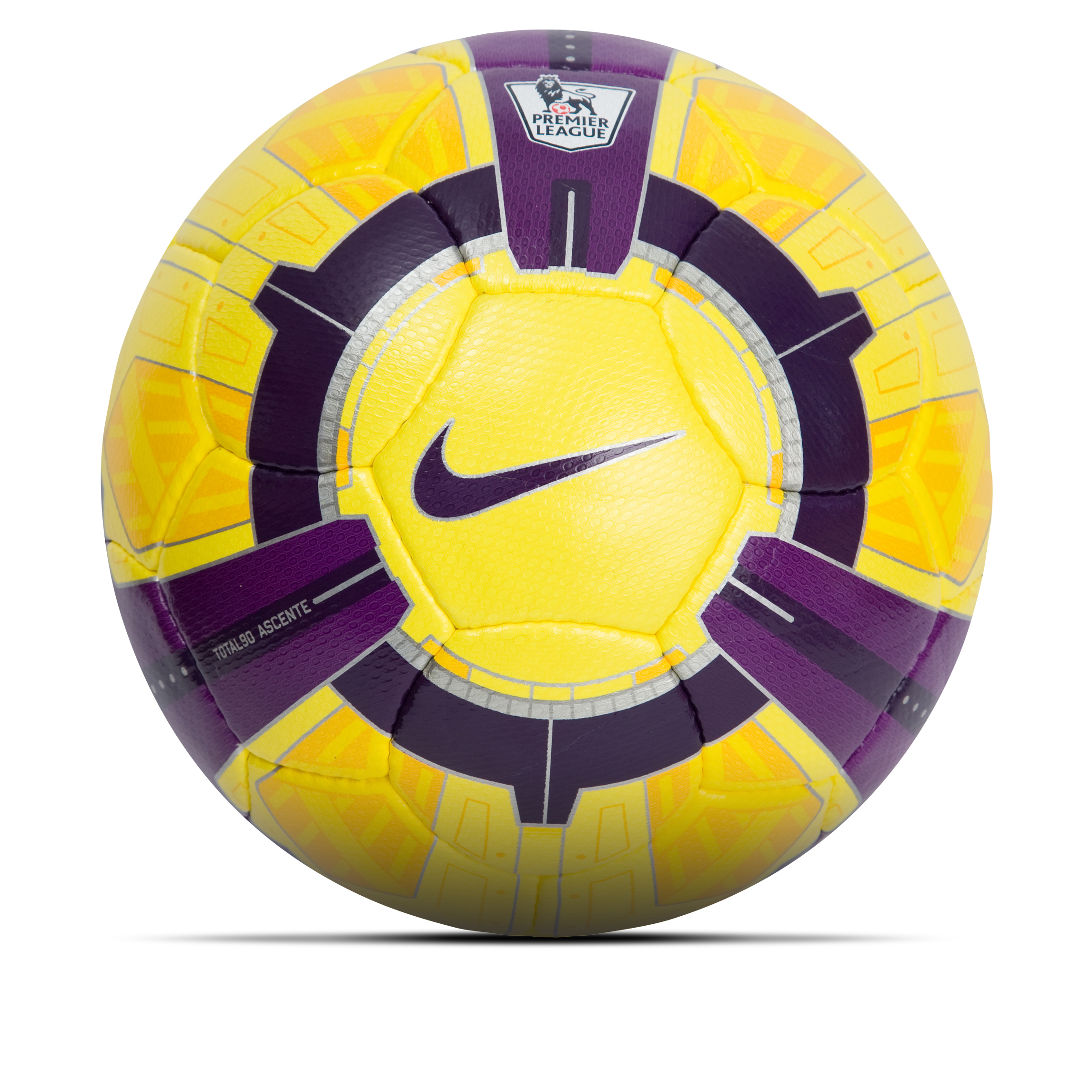 Nike Total90 Ascente Hi-Vis EPL Football - Yellow/Purple/White - Size 5