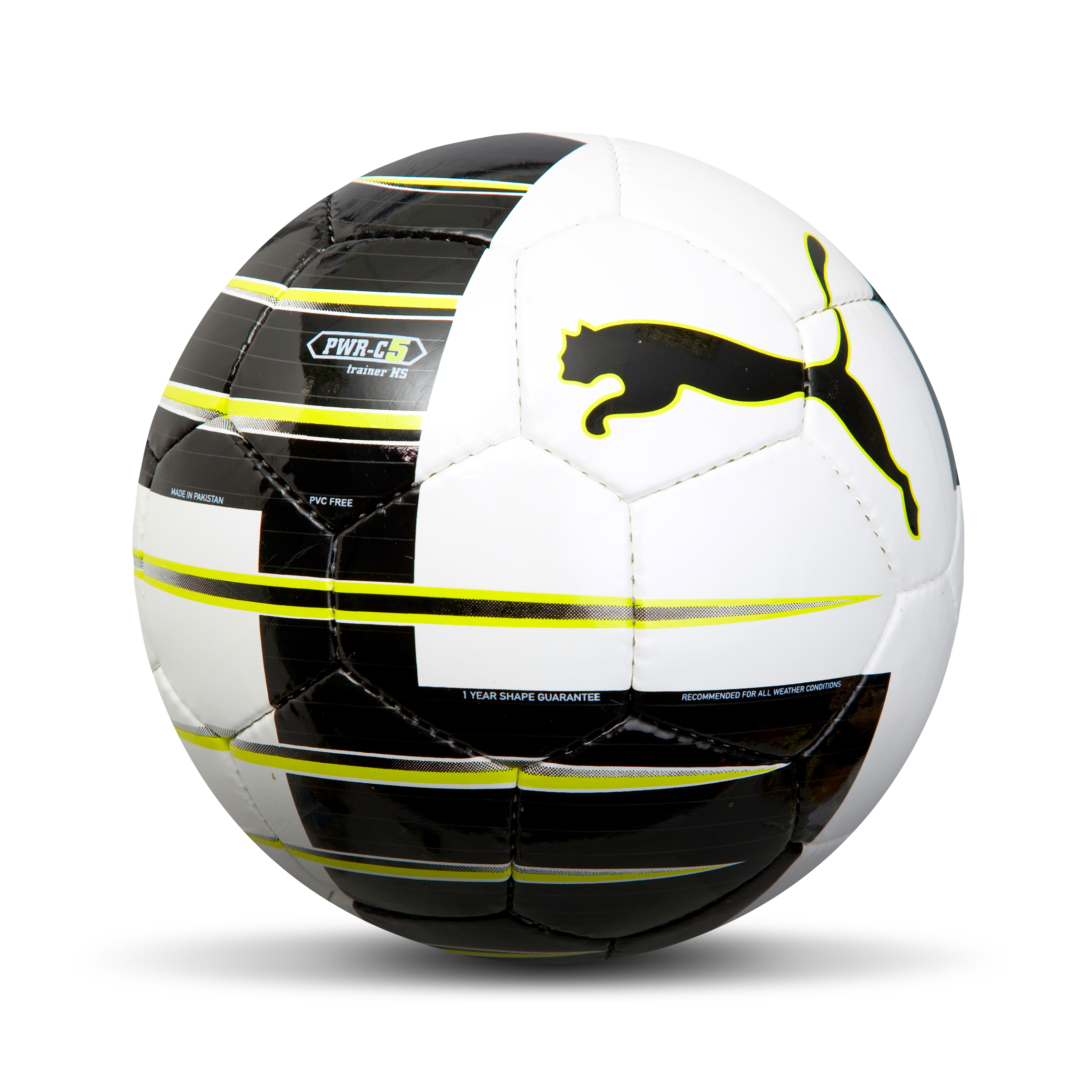 Puma Powercat 5.10 Football - White/Black/Lime - Size 5