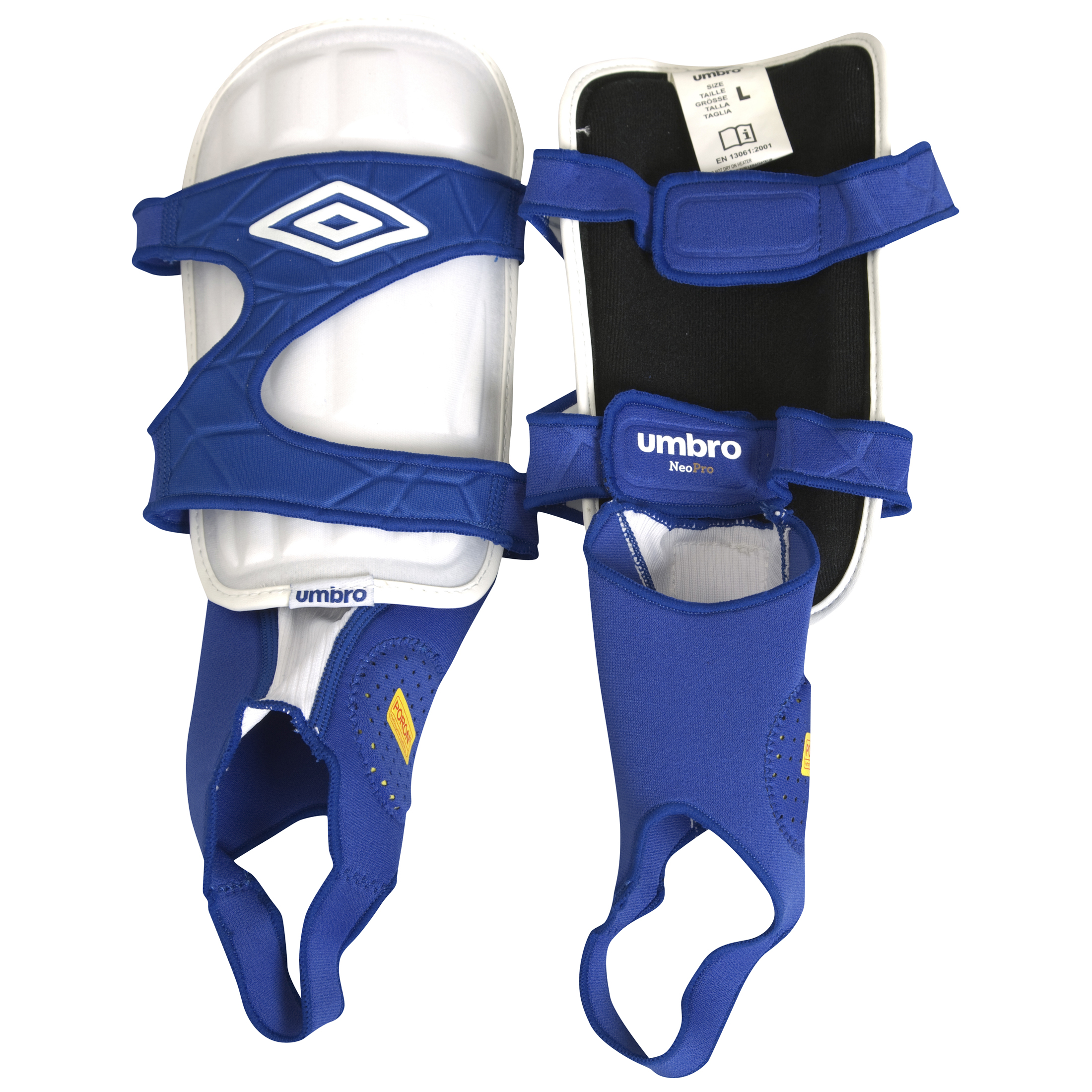 Umbro Pro Shin Pads - White/Blue