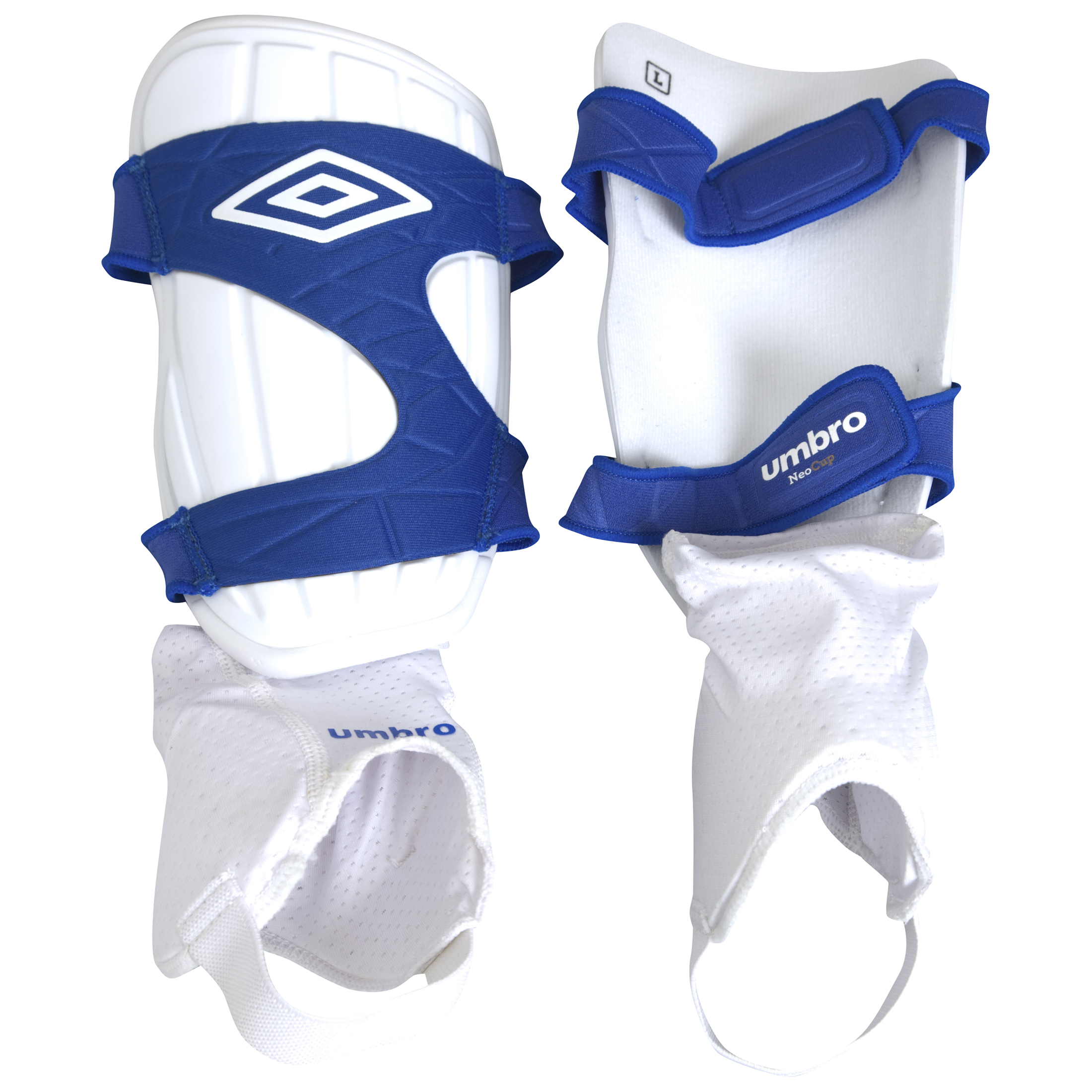 Umbro Cup Shin Guard - White/Blue