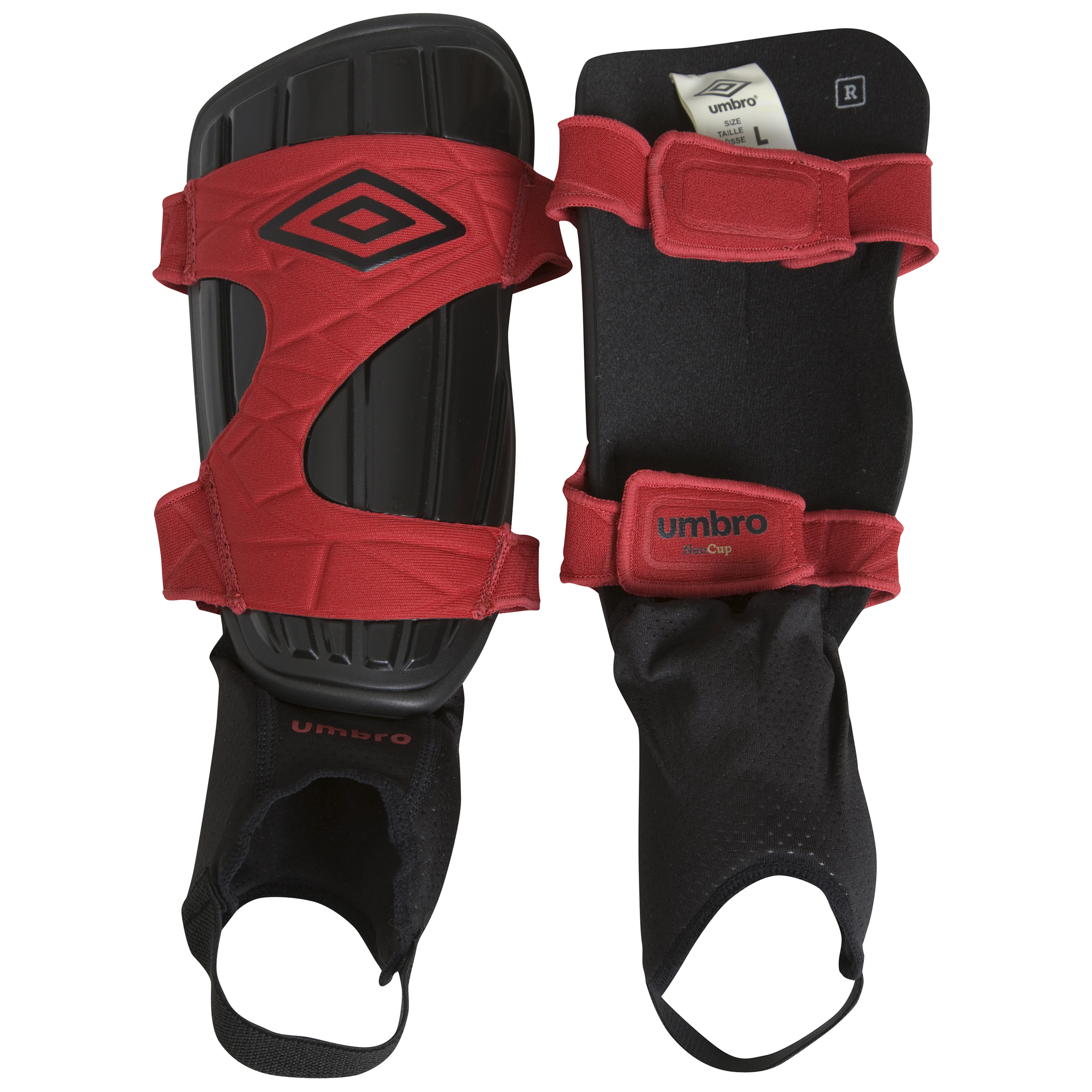 Umbro Cup Shin Pads - Black/Red