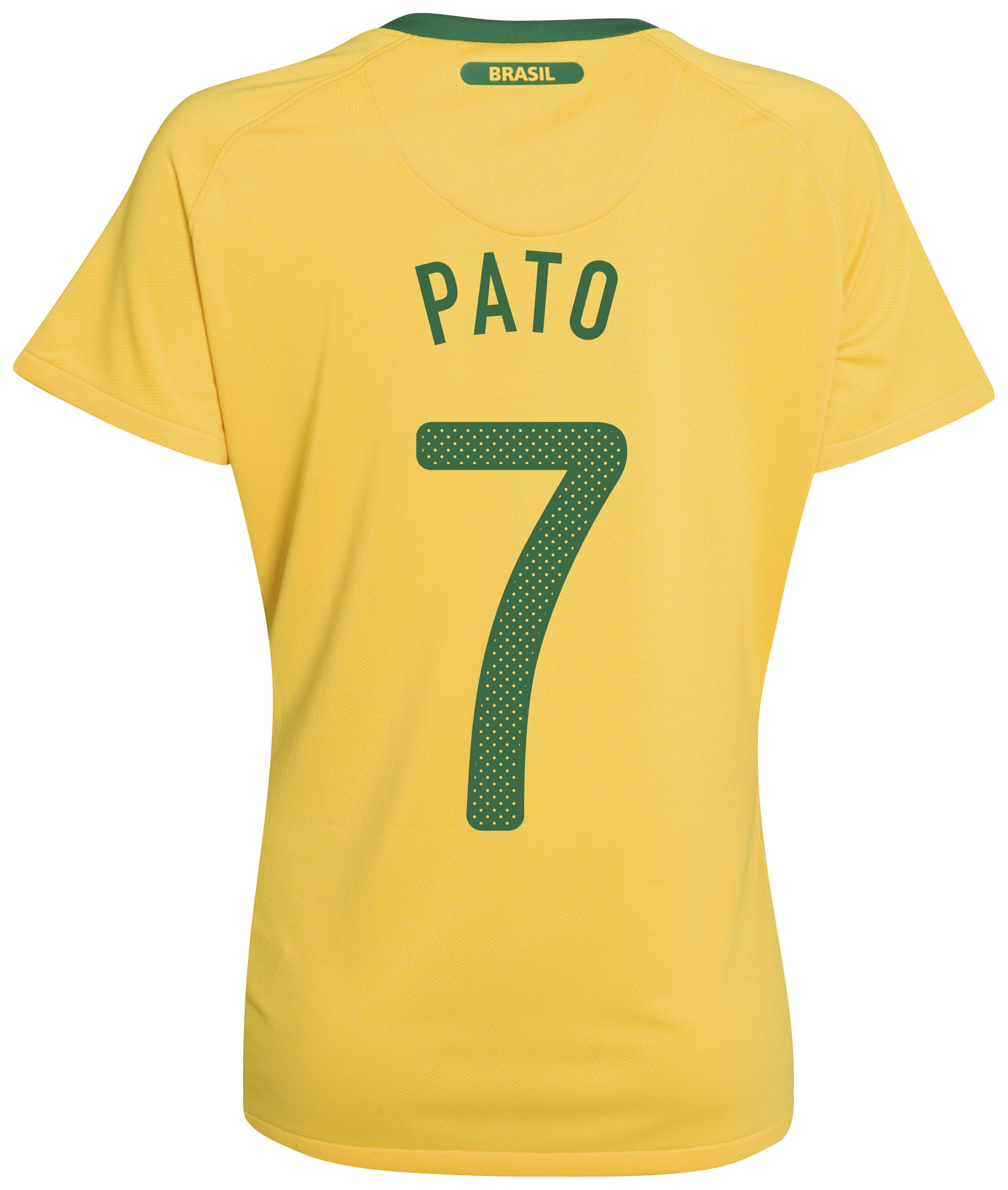 Brazil Home Shirt 2010 - with Pato 7 printing - Womens