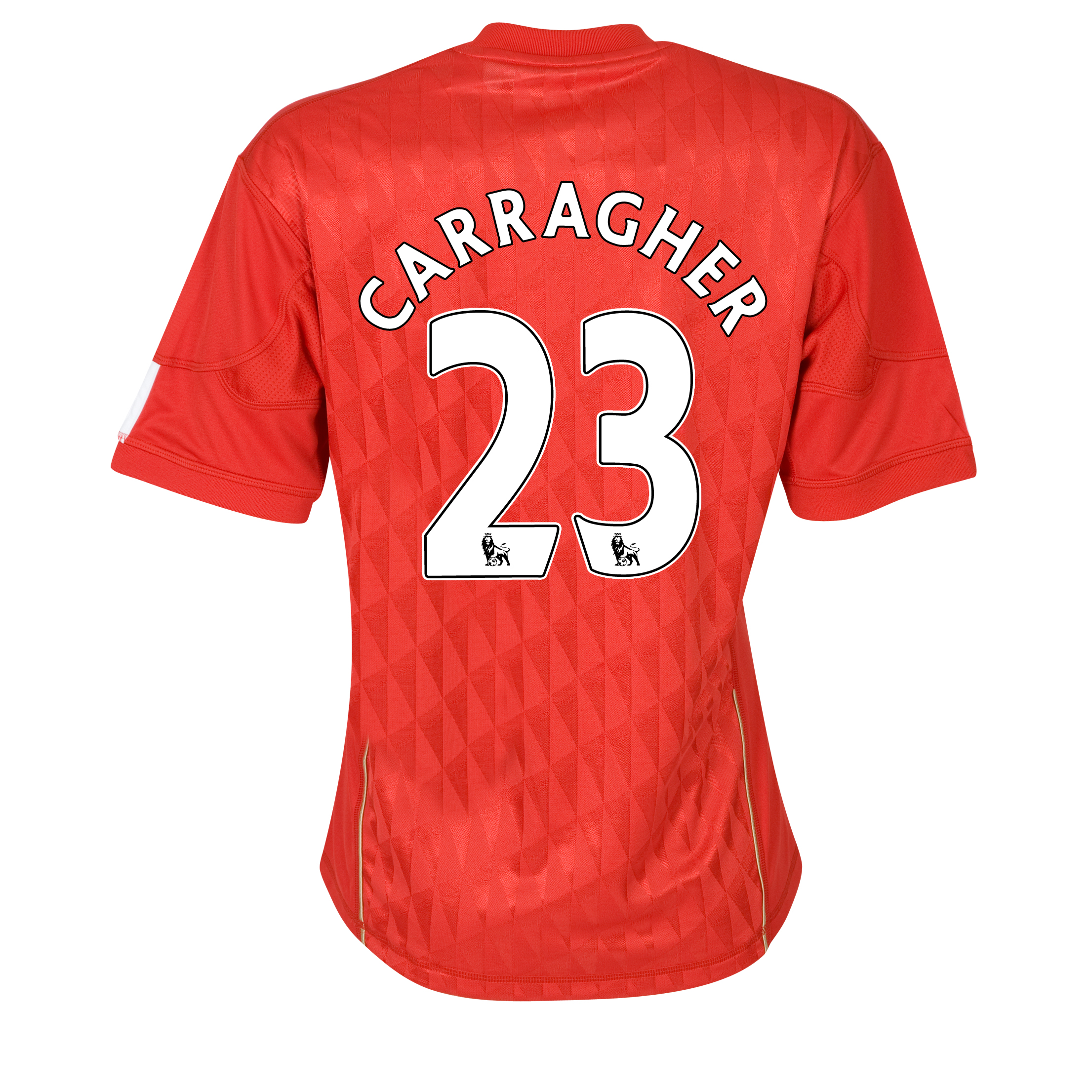 Liverpool Home Shirt 2010/12 with Carragher 23 printing - Womens