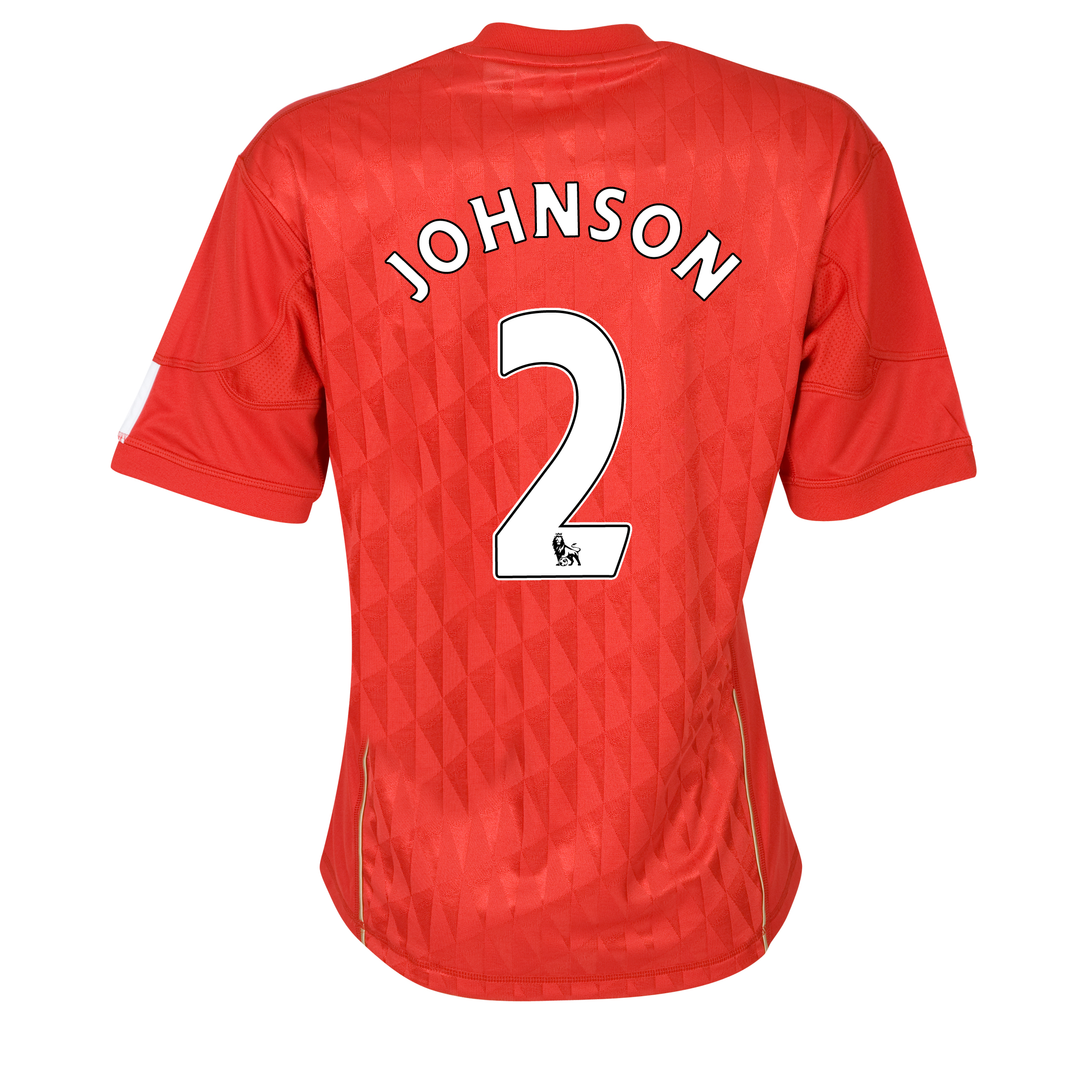 Liverpool Home Shirt 2010/12 with Johnson 2 printing - Womens