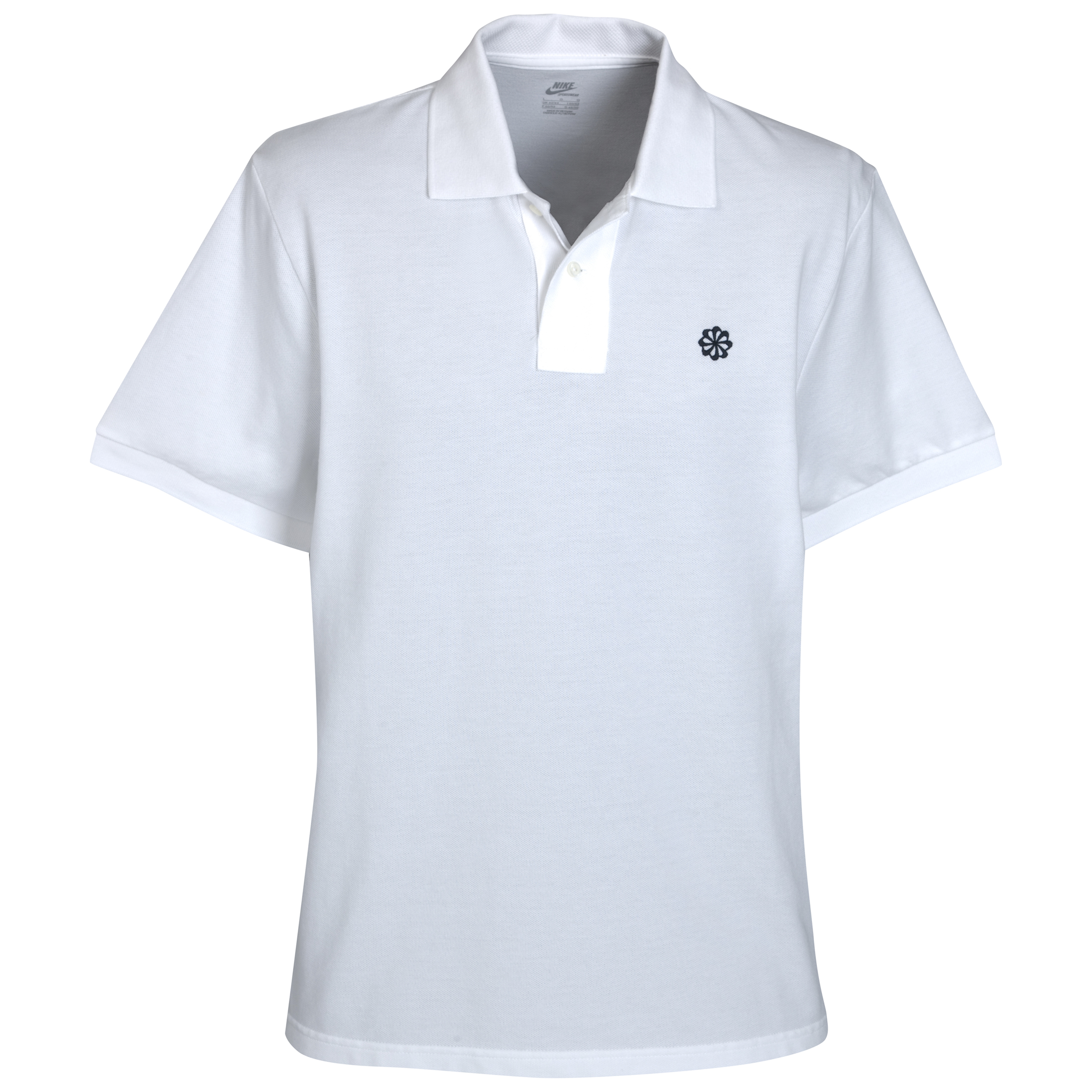 Nike Grand Slam Pique Polo Shirt - White/Dark Obsidian