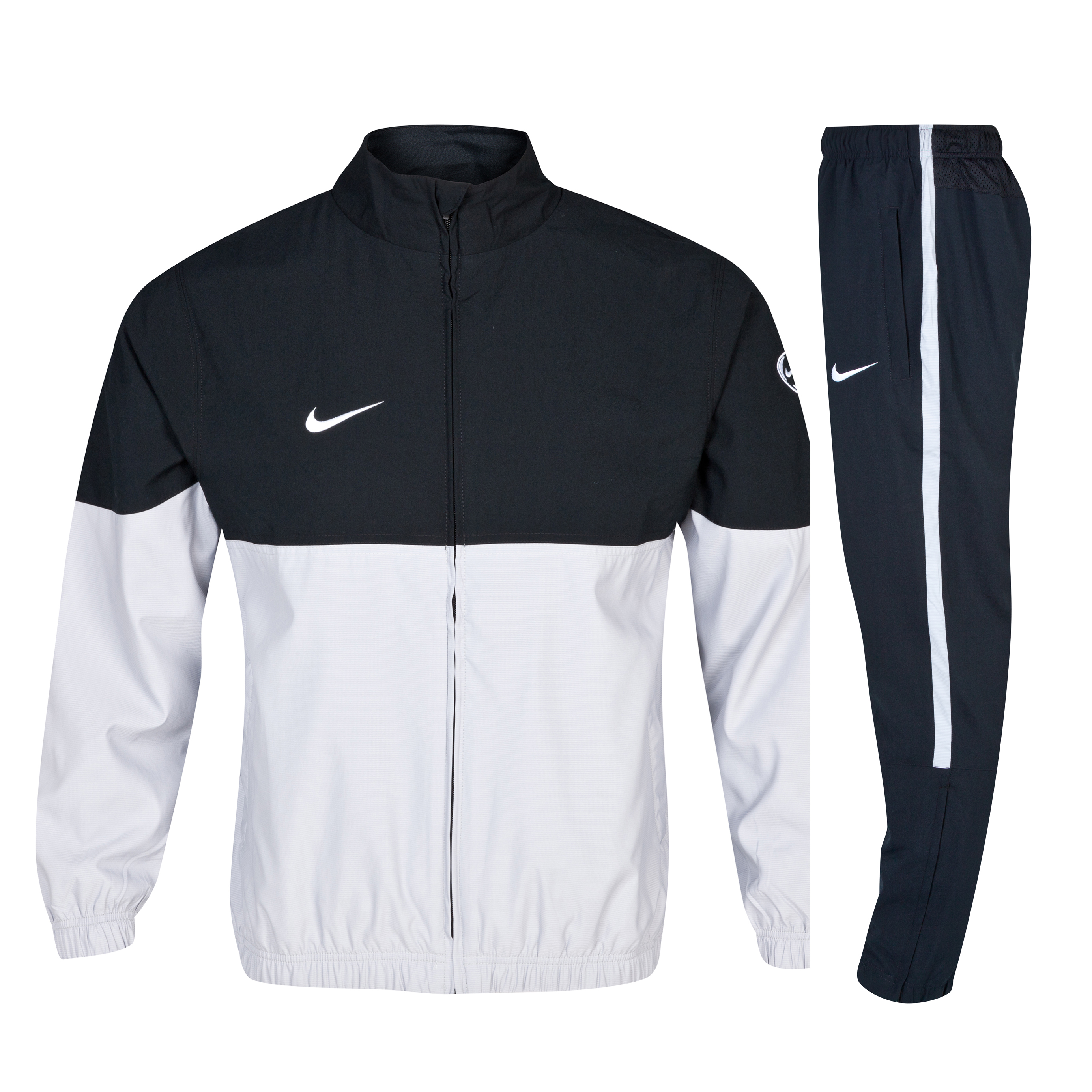 Nike Teamwear Woven Warm up Tracksuit - Silver / Black