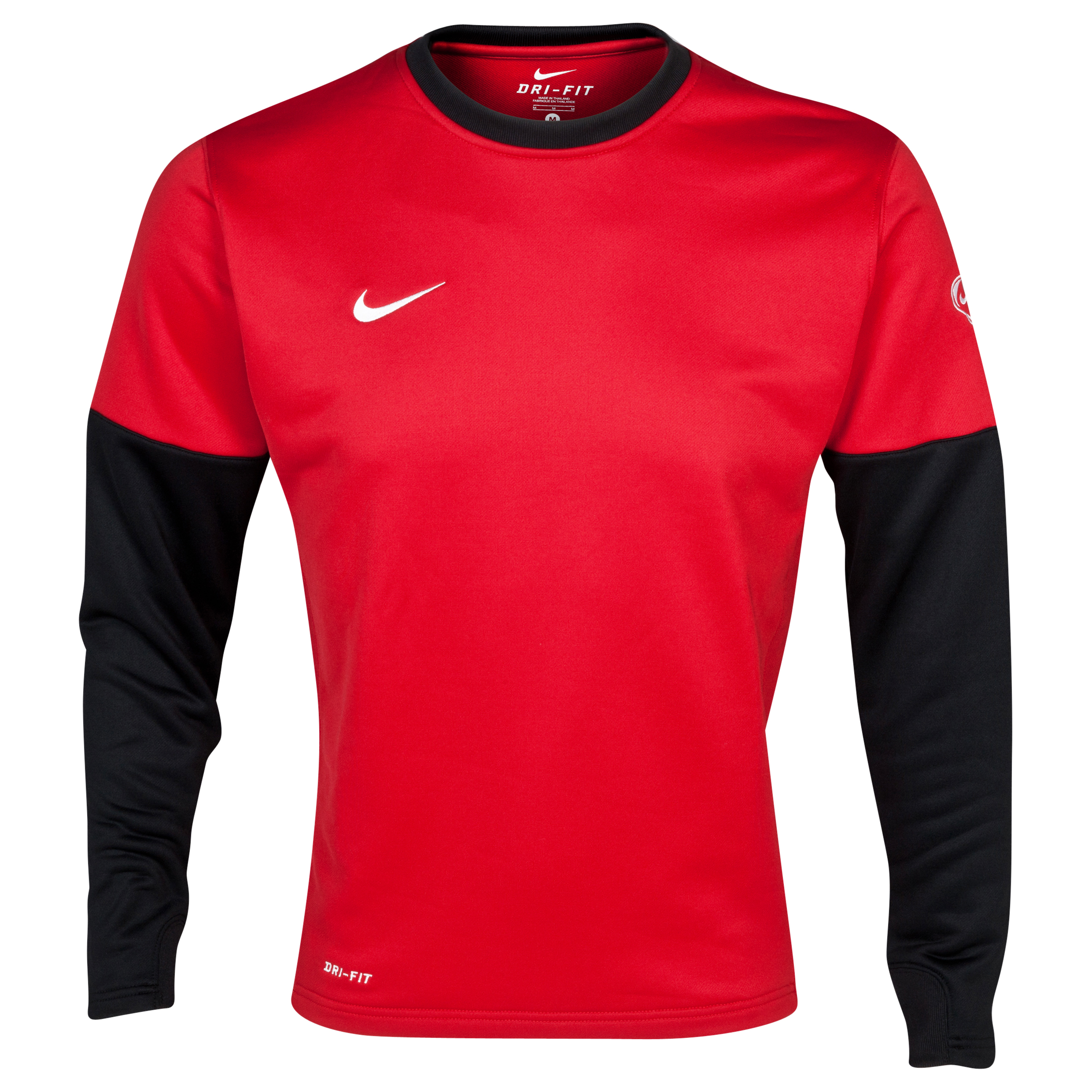 Nike Club Crew Top - Varsity Red/Black/White - Long Sleeved   - Varsity Red/Black/White