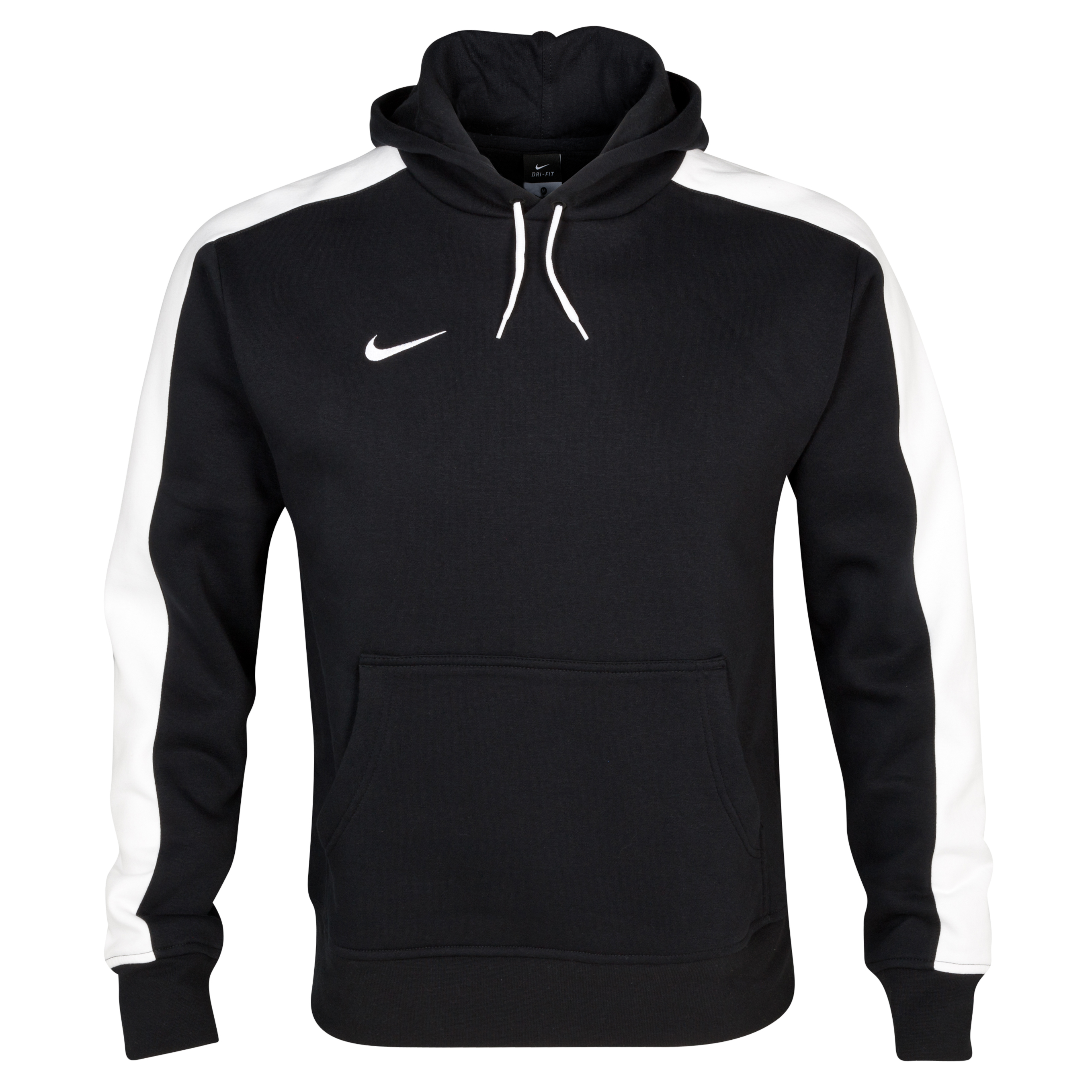 Nike Team Fleece Hoody - Black/White/White