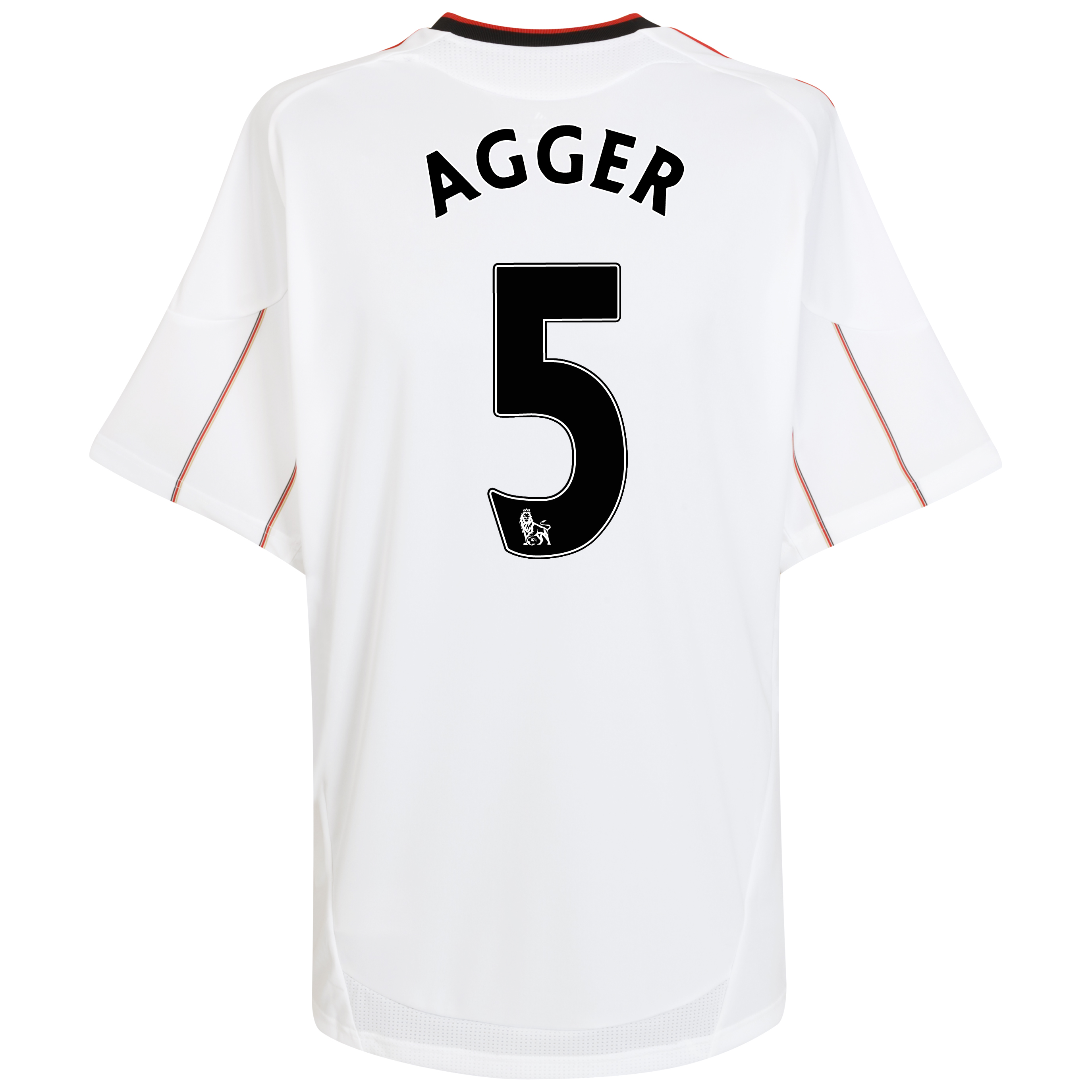 Liverpool Away Shirt 2010/11 with Agger 5 printing - Kids