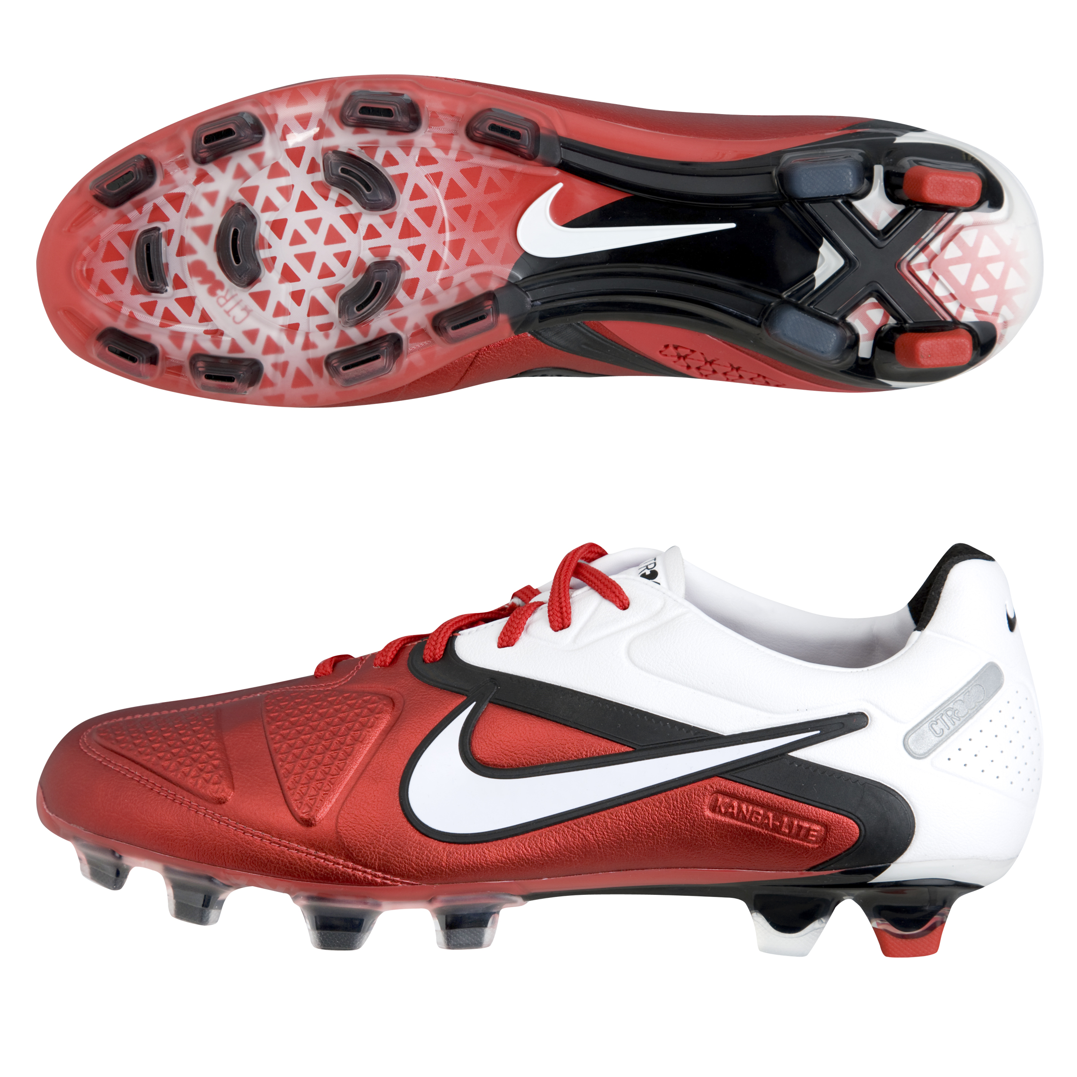 Nike CTR360 Maestri II Firm Ground Football Boots - Challenge Red/White/Black.
