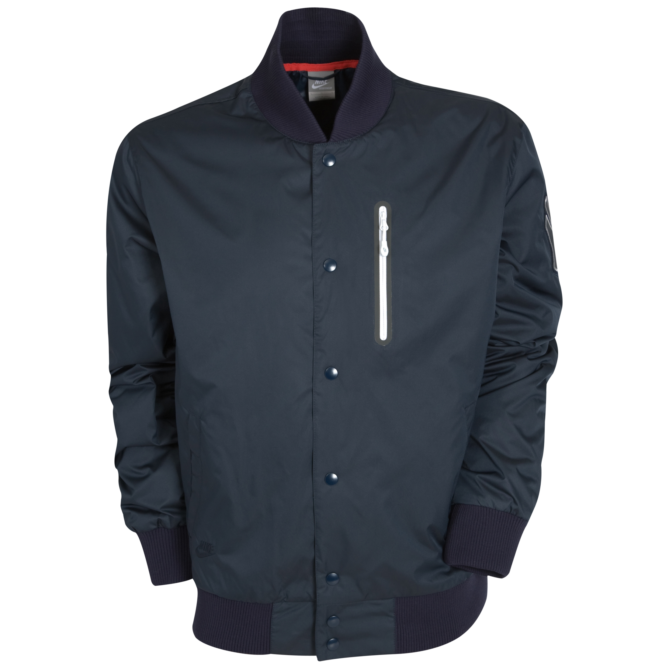 Nike Yankees Destroyer Jacket - Dark Obsidian/Sport Red