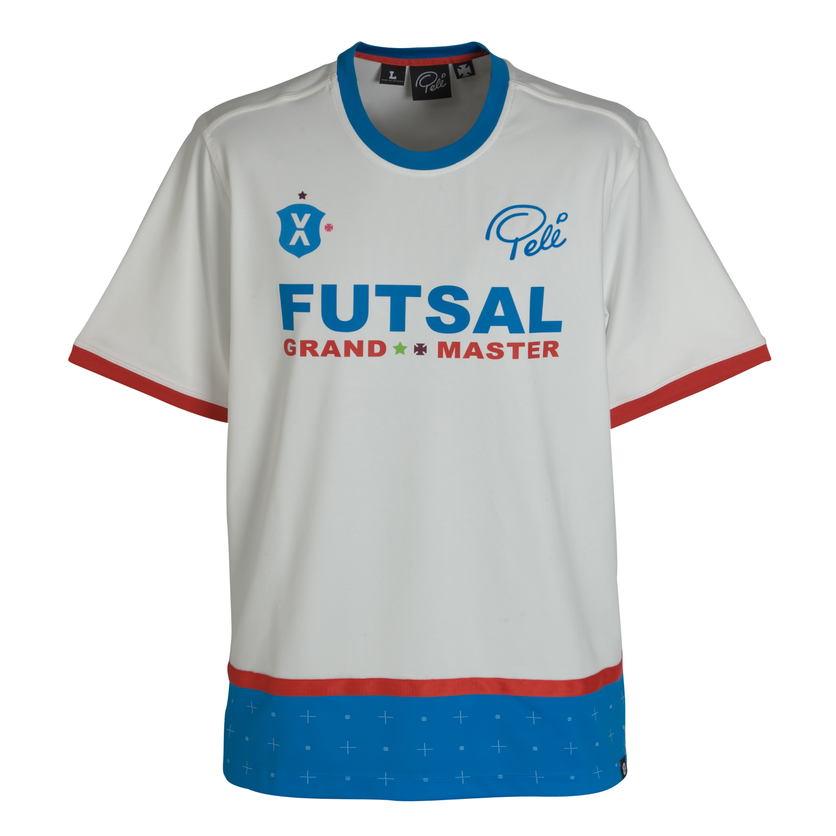 Pele Pele Sports Game Day Jersey - Snow White/Brilliant Blue