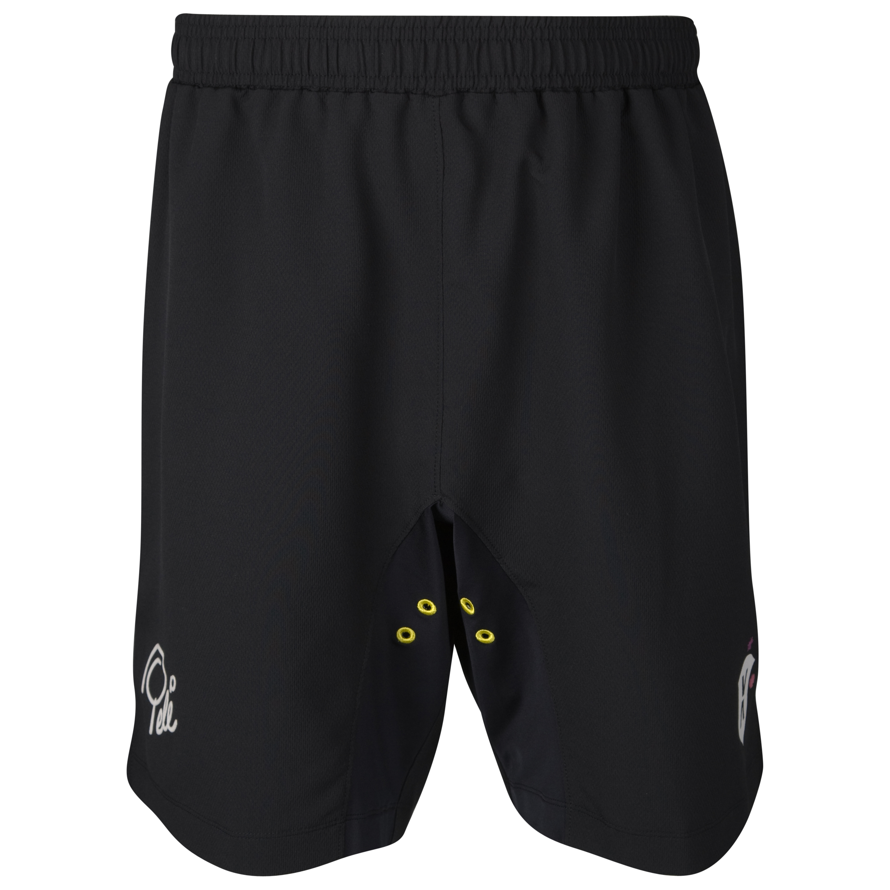 Pele Pel? Sports Solid Shorts - Black Anthracite