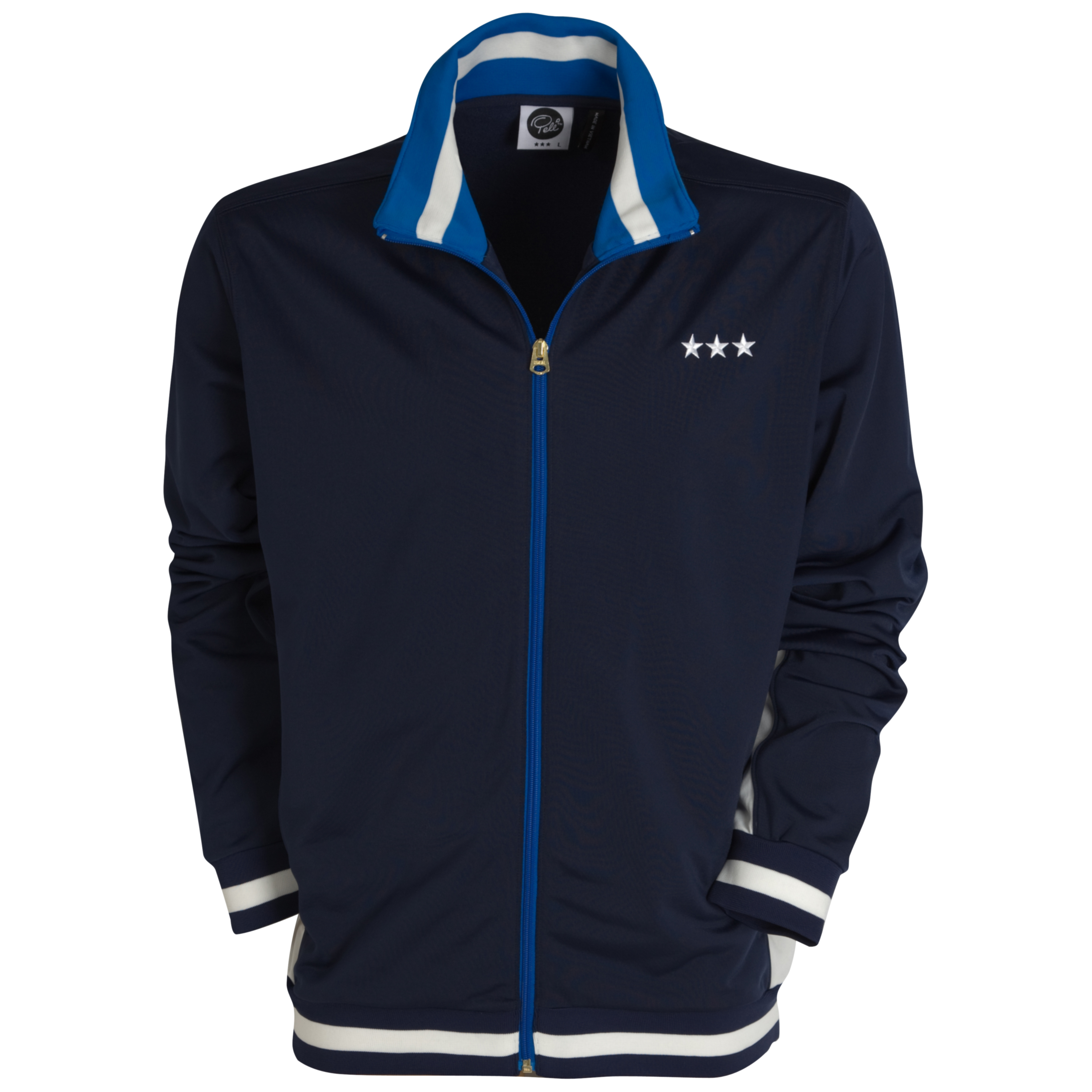 Pele Pele Sports Track Jacket - Peacoat/Snow White