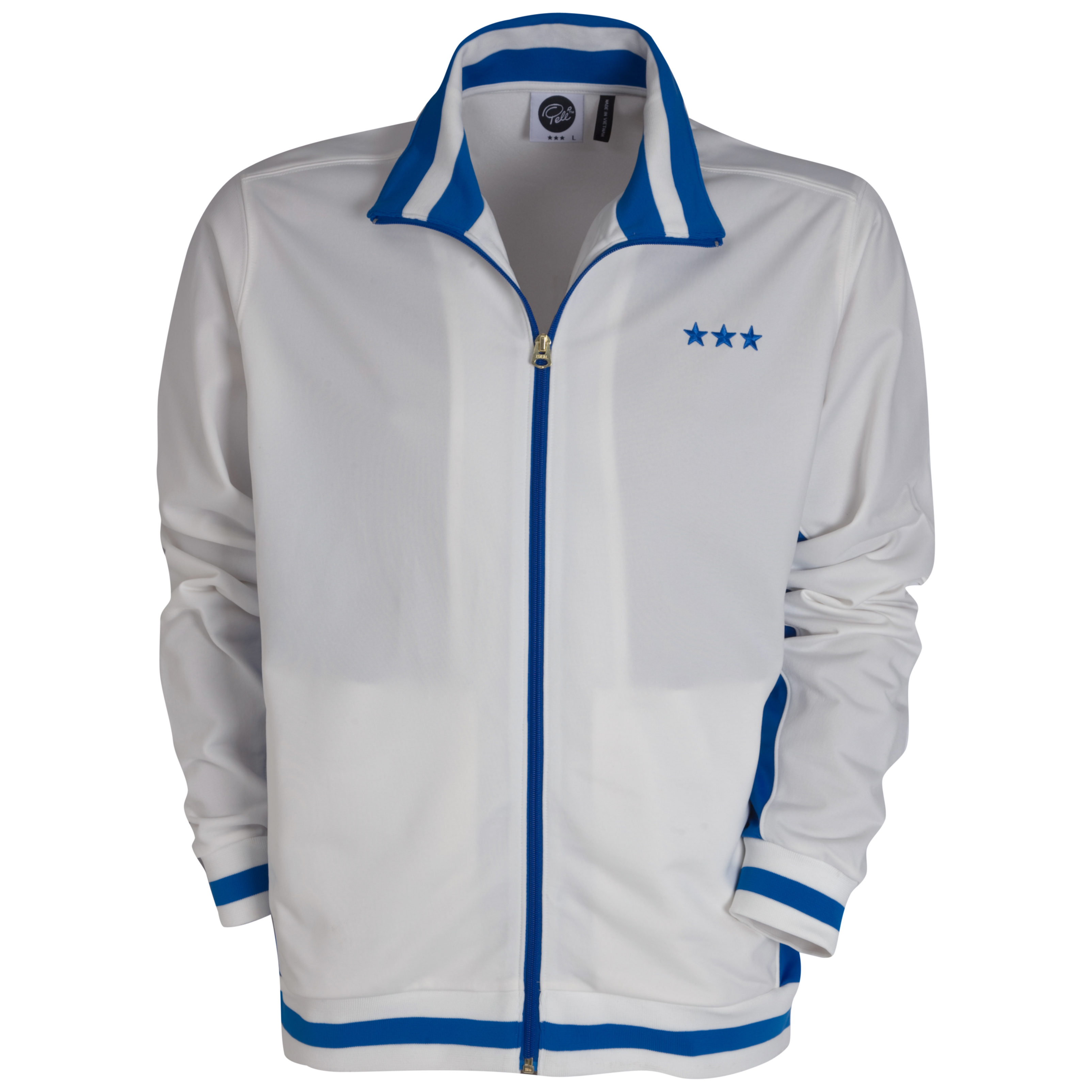 Pele Pele Sports Track Jacket - Snow White/Princess Blue