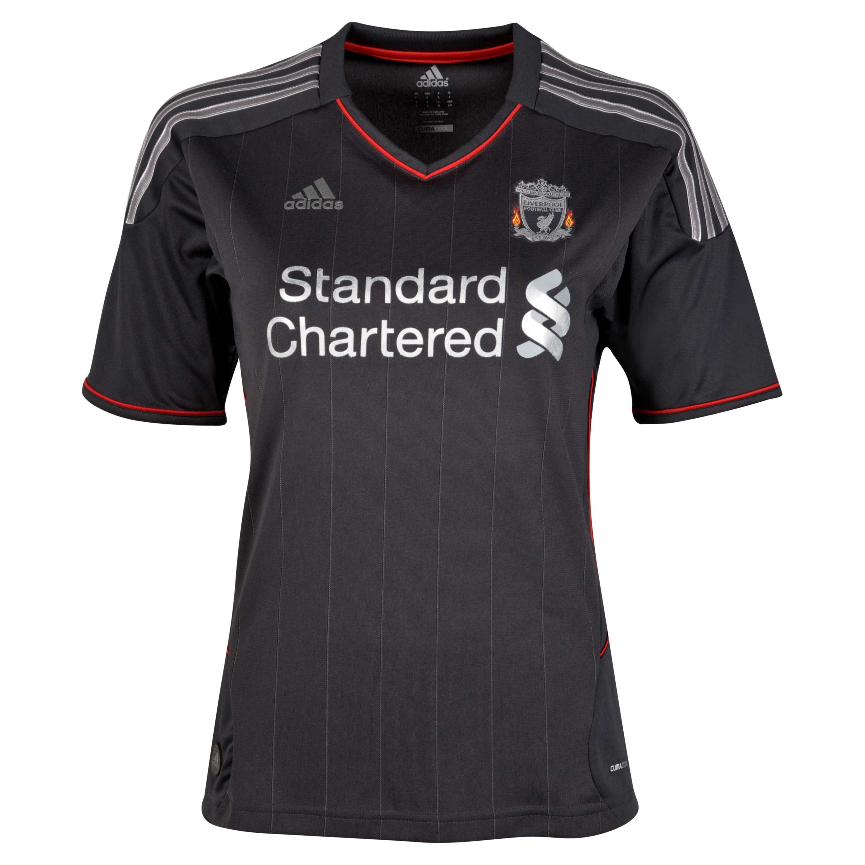 Liverpool Away Shirt 2011/12 - Womens with Johnson 2 printing