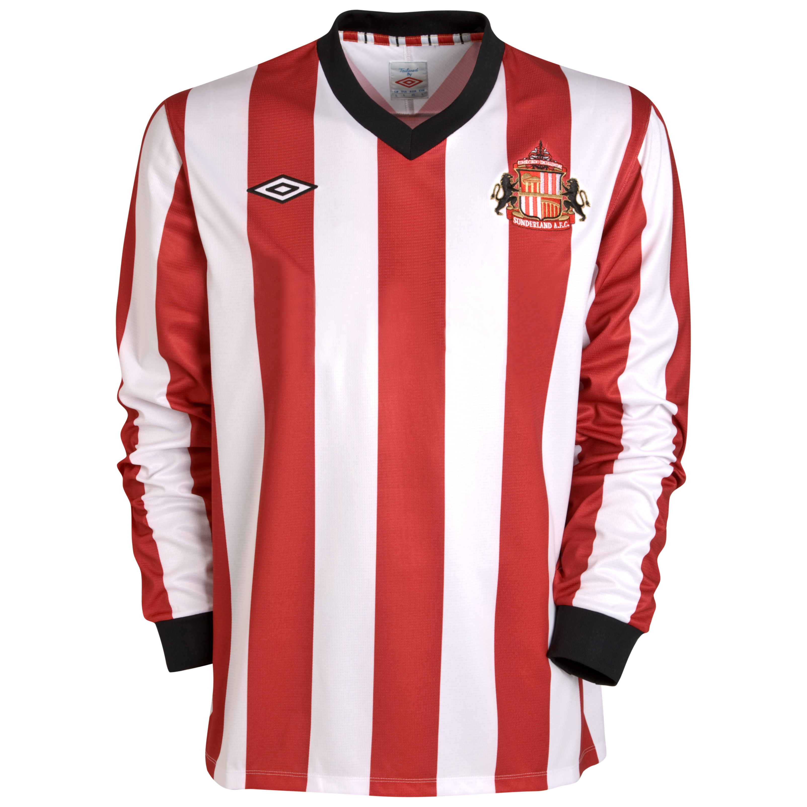 Sunderland Home Shirt 2011/12 - Long Sleeve - Kids with Bendtner 52 printing
