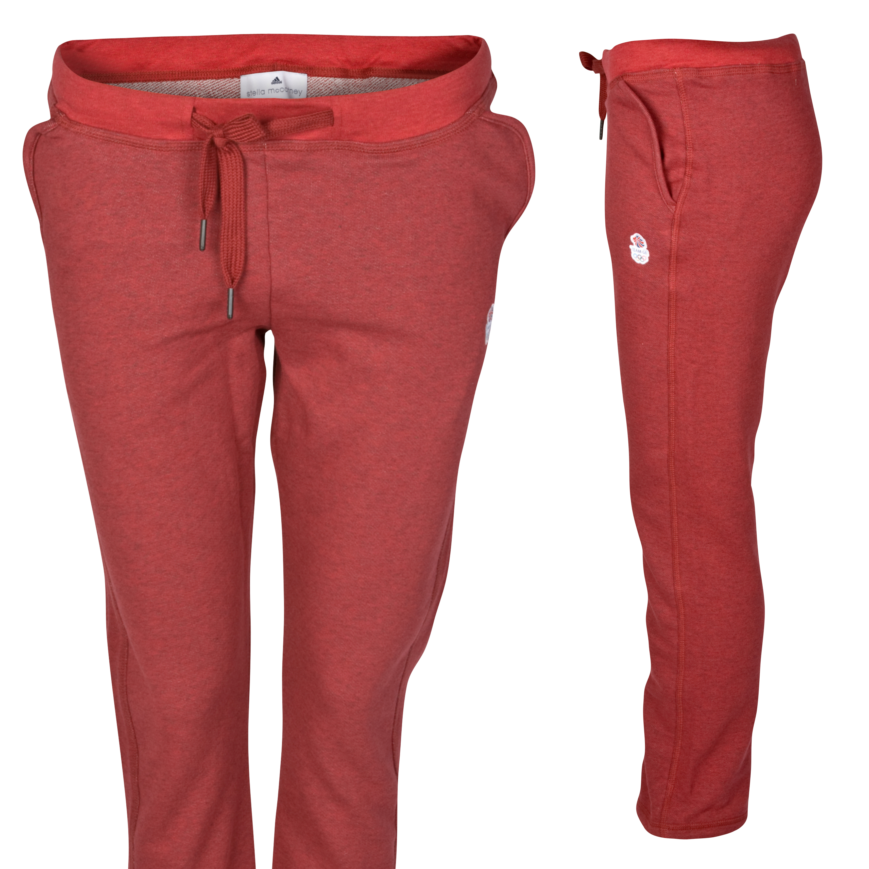 adidas Team GB Emblem Pant - Flame Red Melange/Fire Melange - Womens