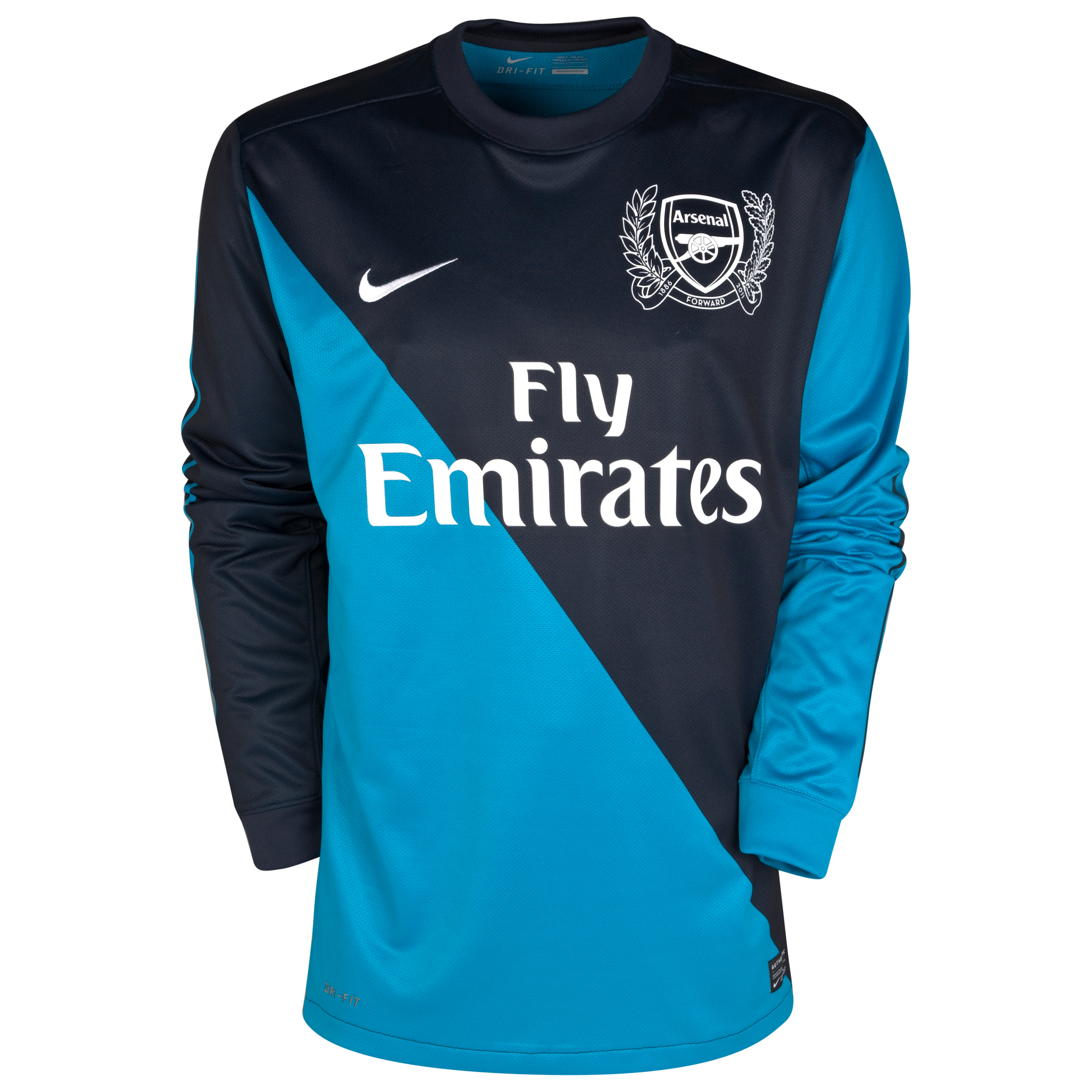 Arsenal Away Shirt 2011/12 Long Sleeved Kids