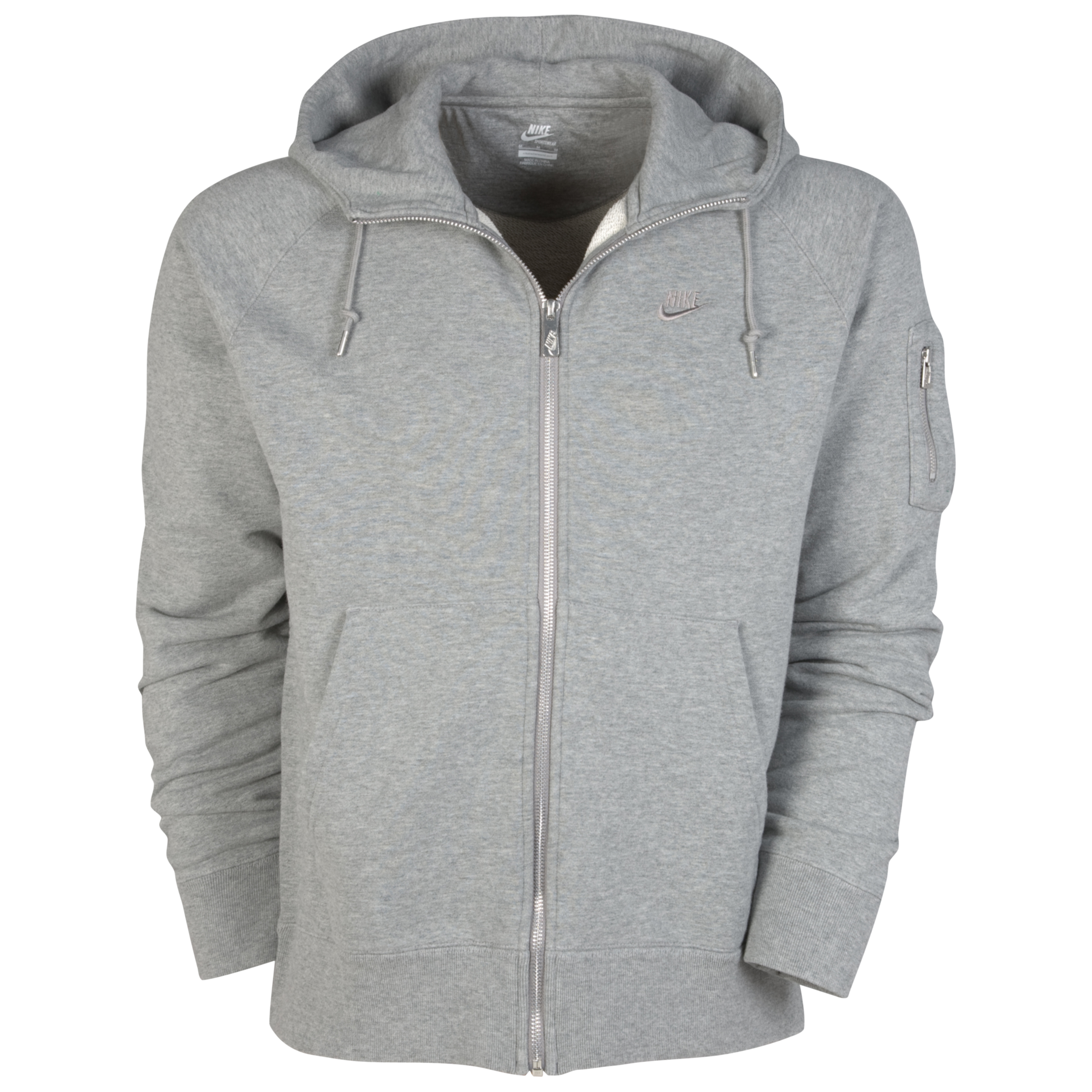 Nike AW77 Stadium Full Zip Hoody - Dark Grey Heather/Medium Grey