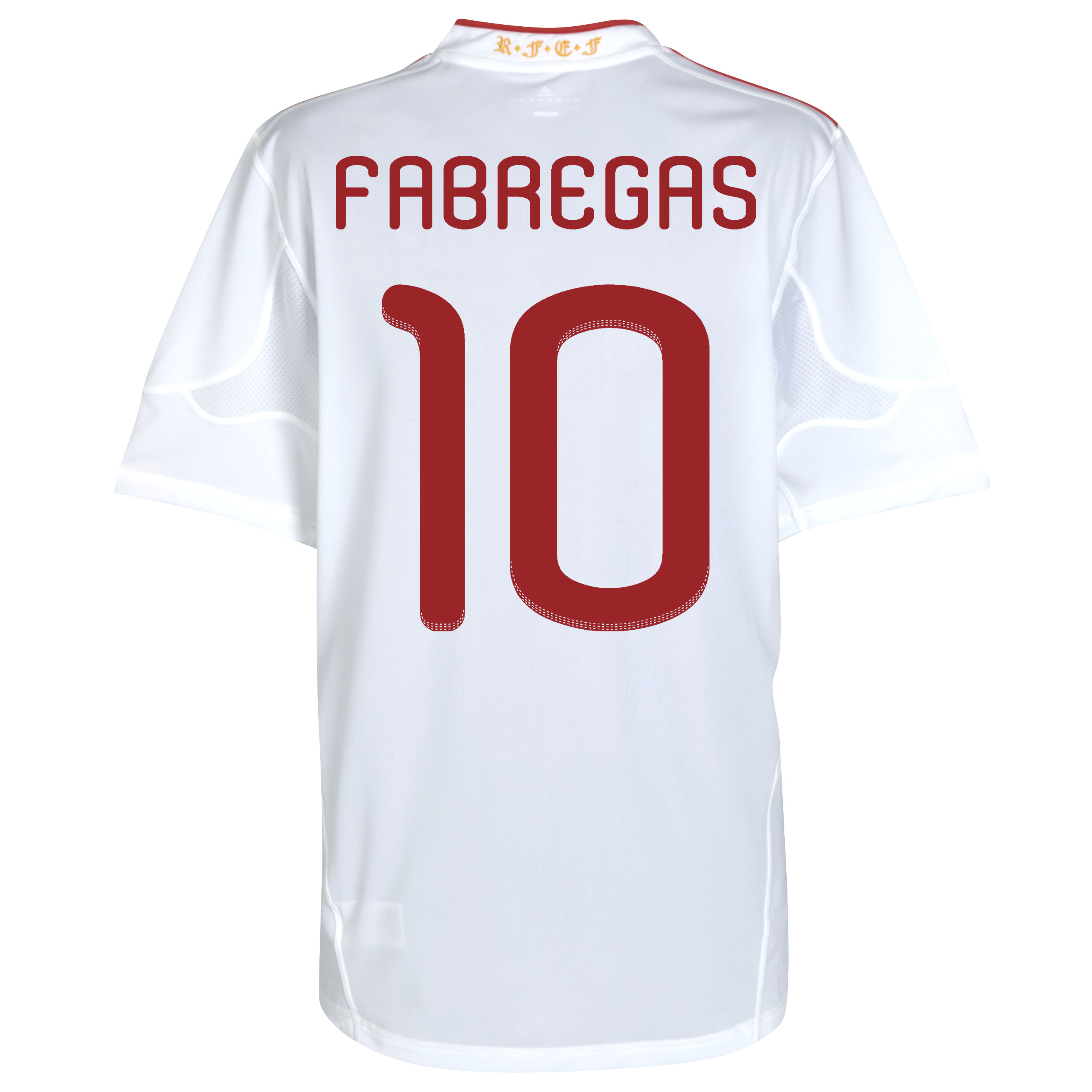 Spain Away Shirt 2011 with Fabregas 10 printing