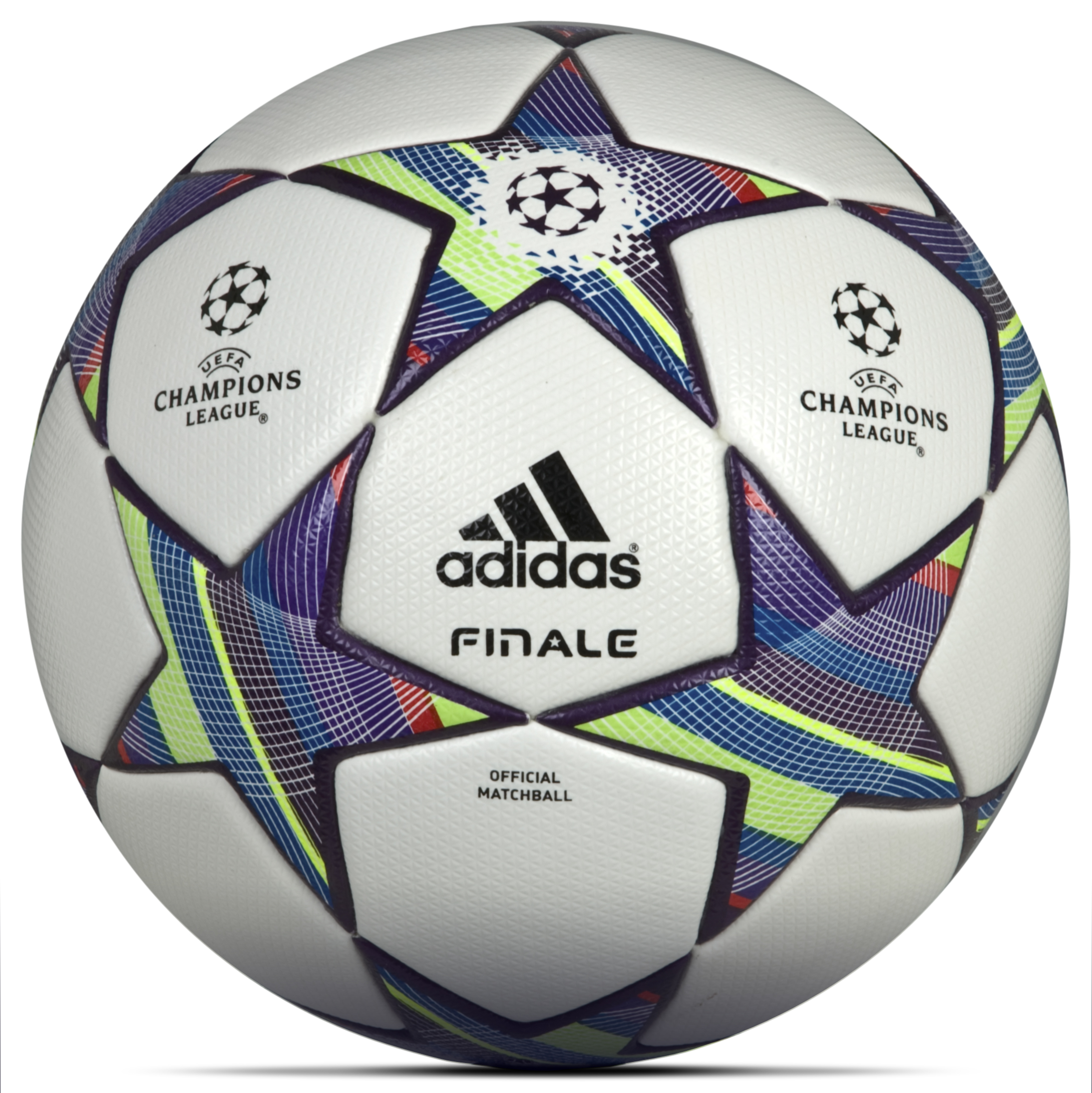 adidas Finale 11 UEFA Champions League Official Match Football - White/Ultra Lilac Met