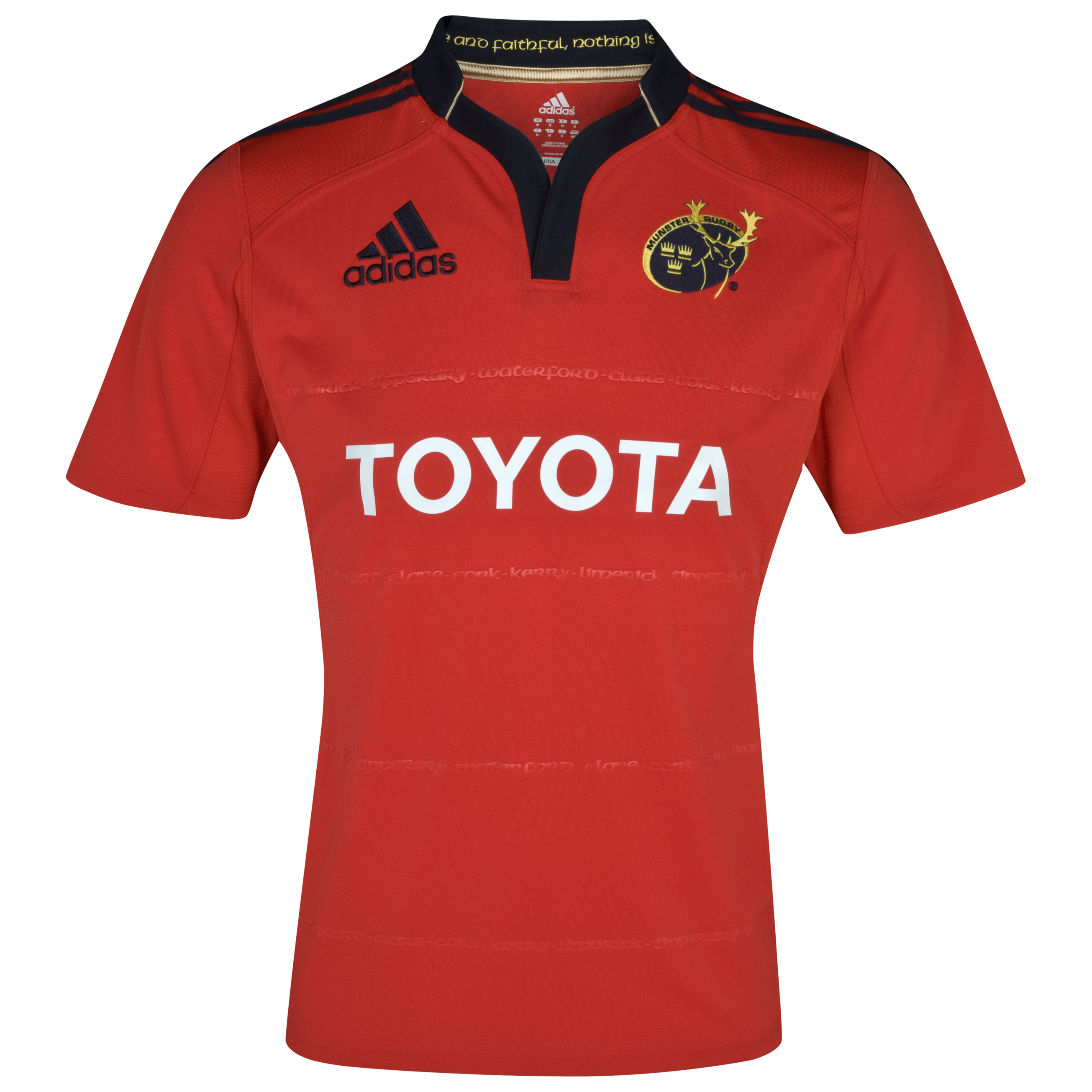 Munster Home Shirt 2011/12 - Collegiate Red/Dark Navy. for 55€