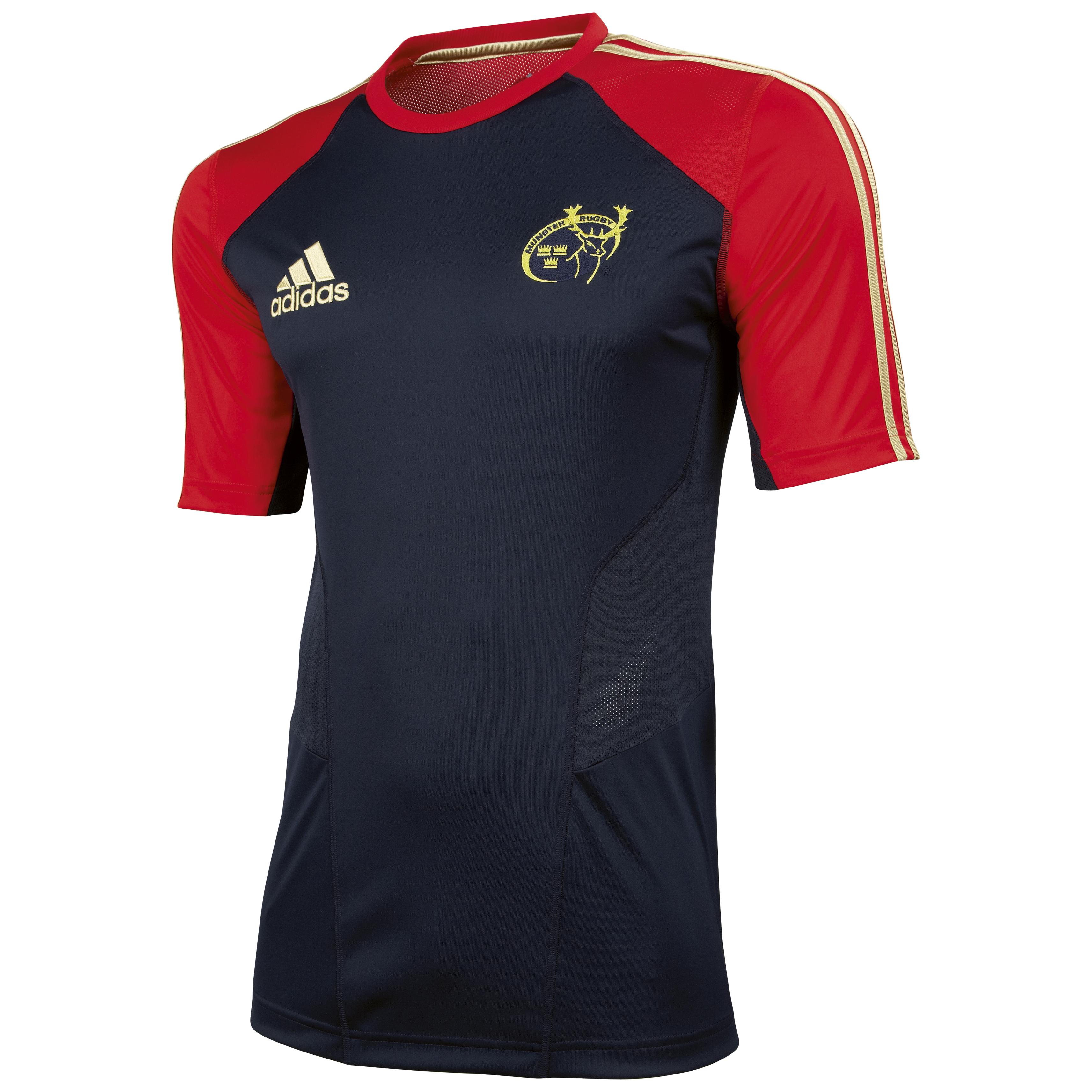 Munster Performance T-Shirt - Dark Navy/Collegiate Red/Light Football Gold. for 18€