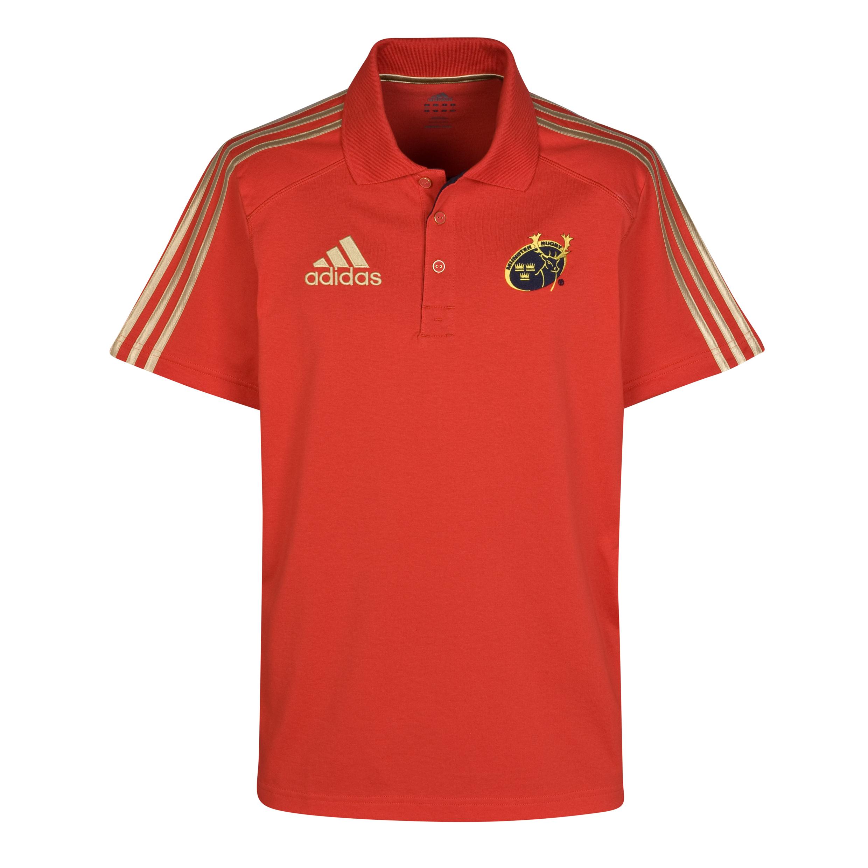 Munster Polo Shirt - Collegiate Red/Dark Navy/Light Football Gold. for 18€
