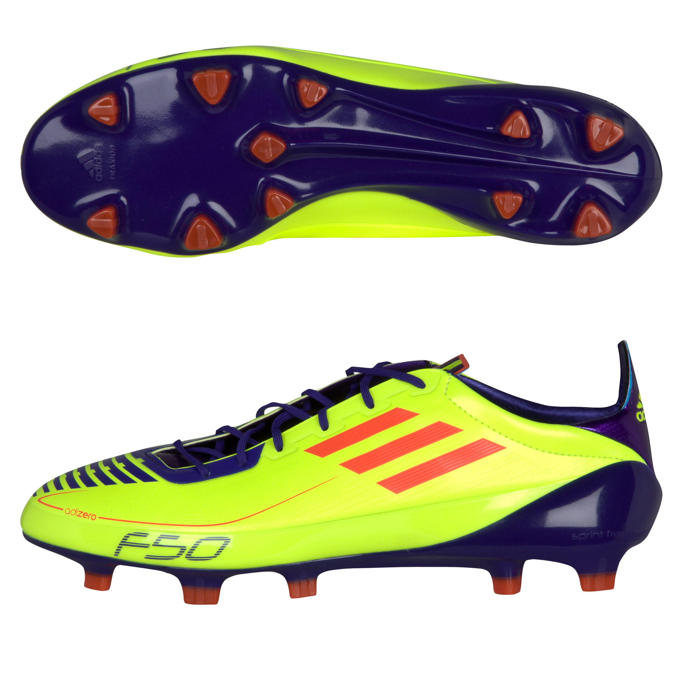 F50 adizero TRX FG Synthetic Electricity / Infrared / Anodized Purple