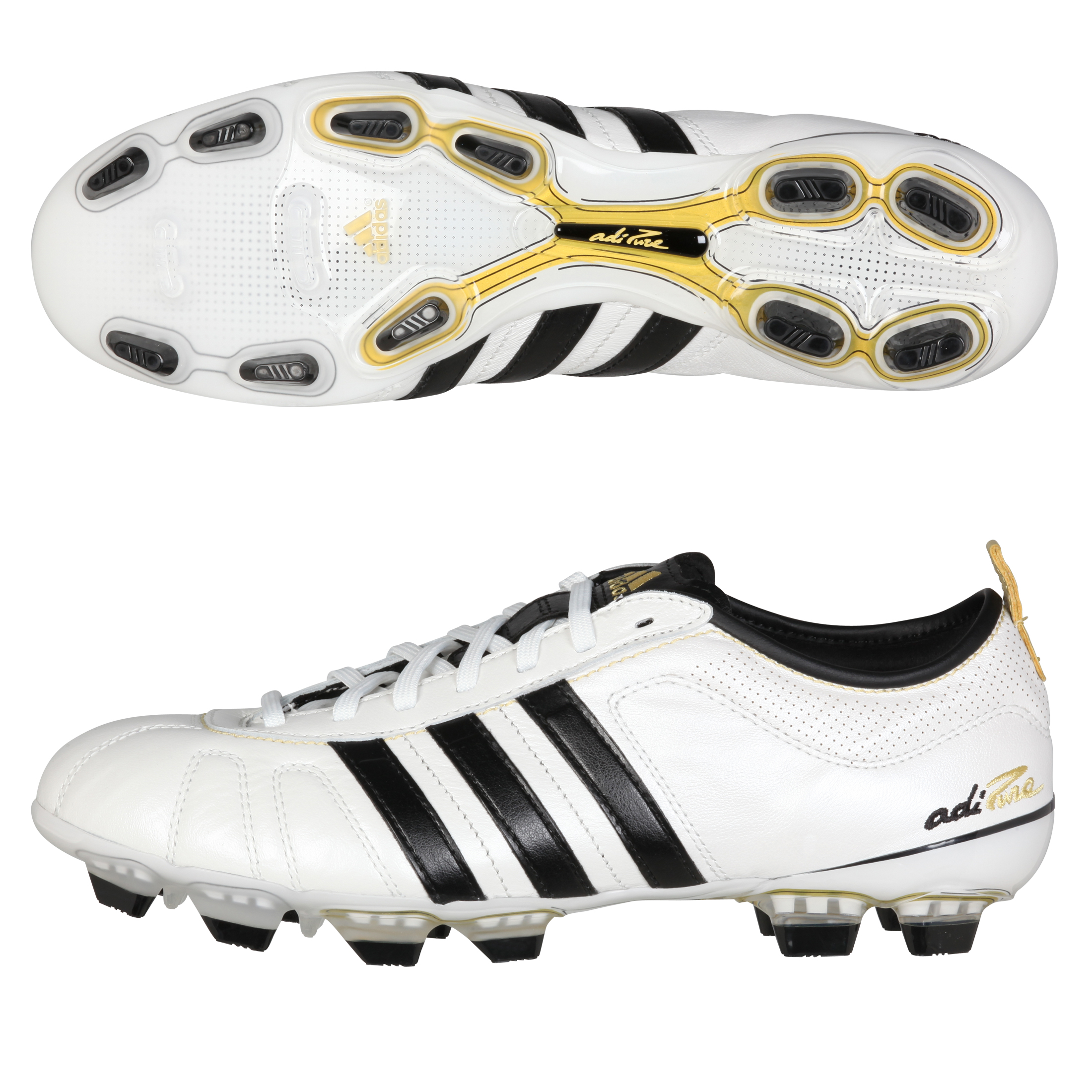 adidas adiPURE IV TRX Firm Ground Football Boots - Zero Met/Black/Matte Gold