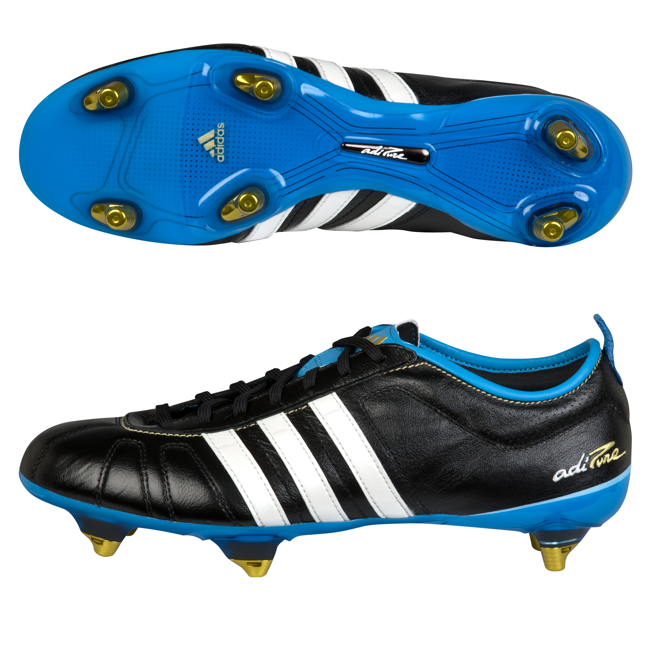 adidas adiPURE IV TRX Soft Ground Football Boots - Black/Zero Met/Fresh Splash