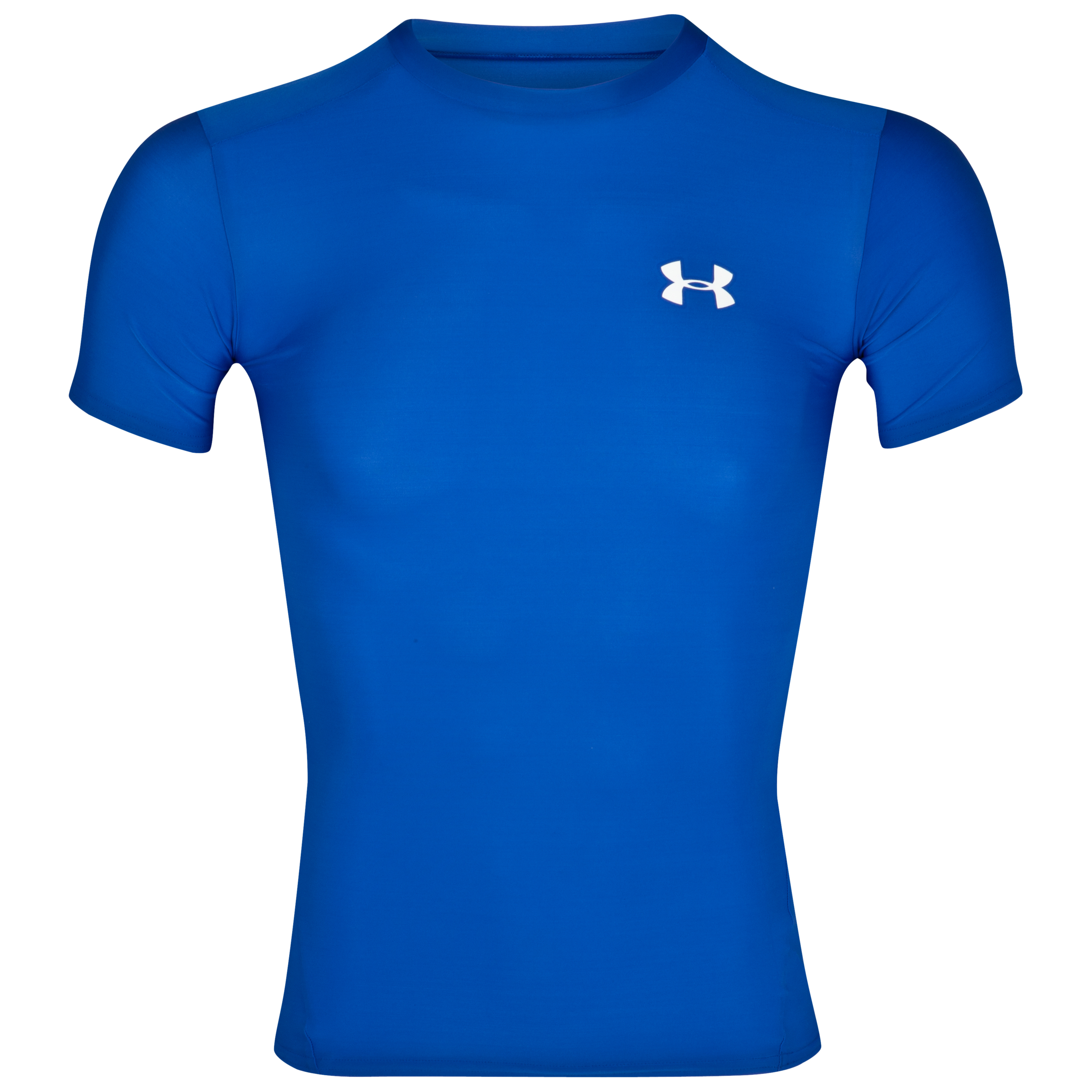 UnderArmour HeatGear Compression Top - Royal/White