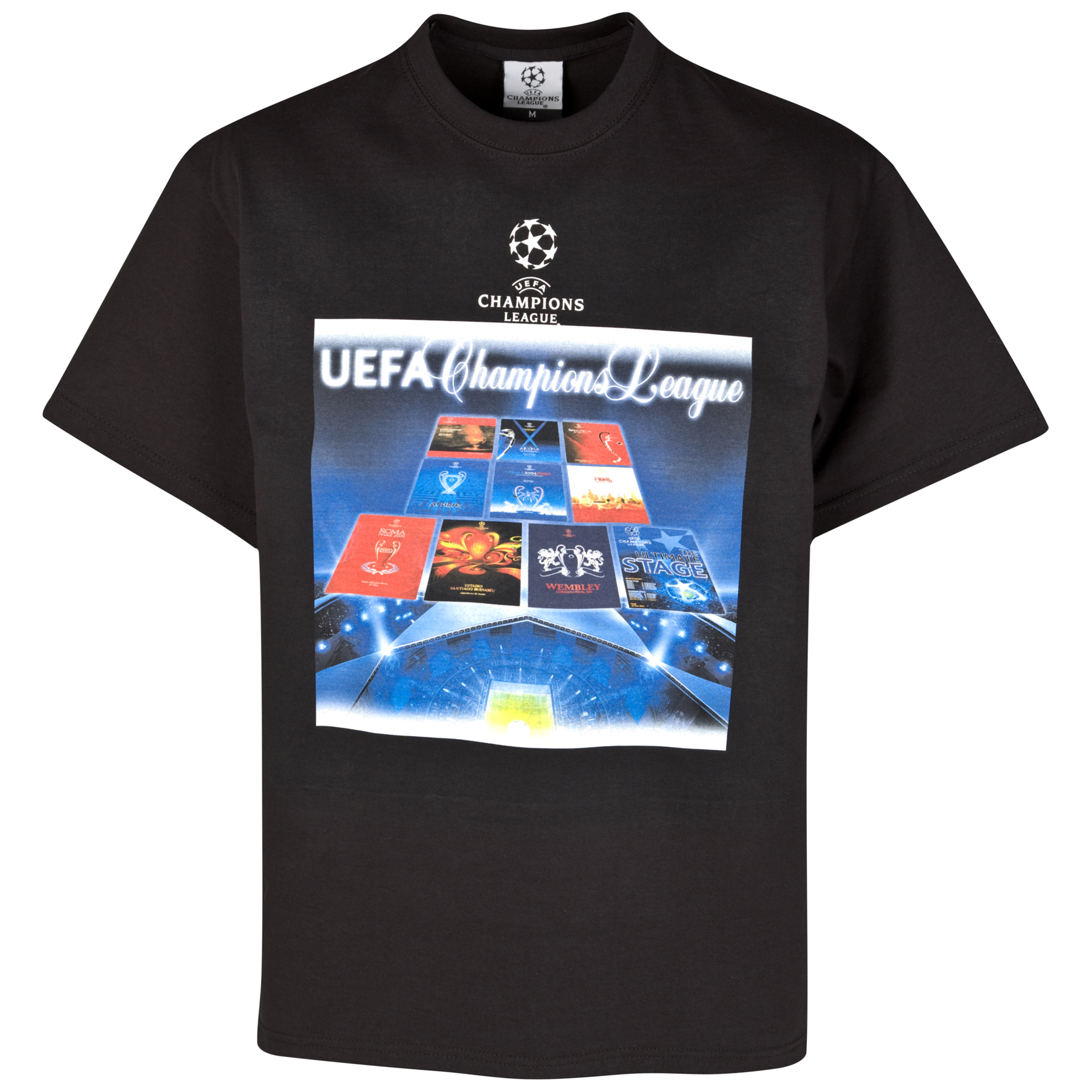 UEFA Champions League Programme T-Shirt - Black