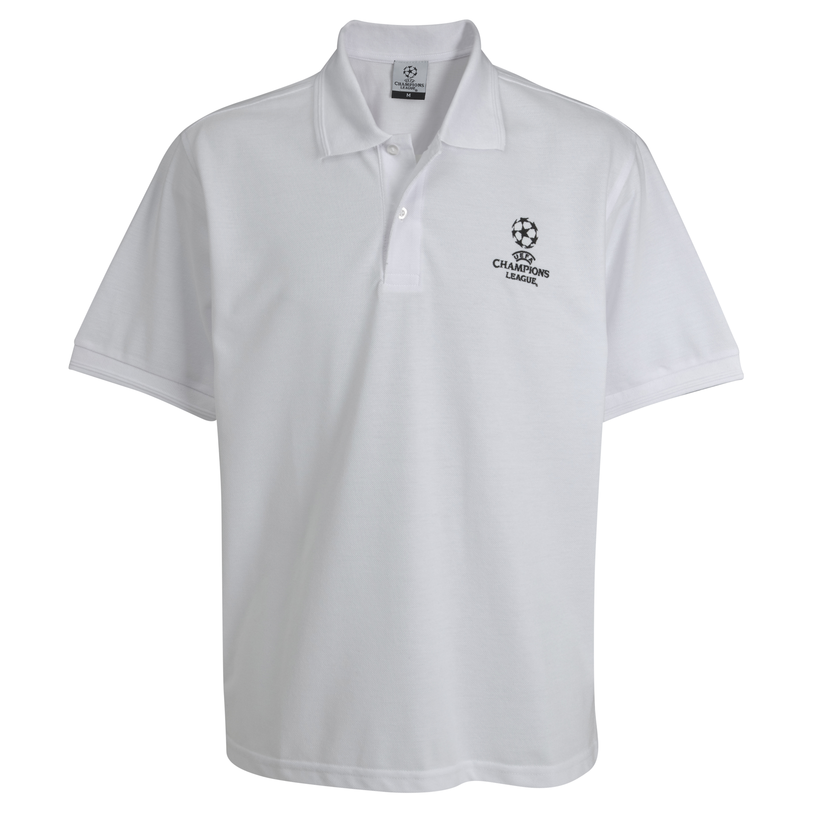UEFA Champions League Pique Polo - White - Kids