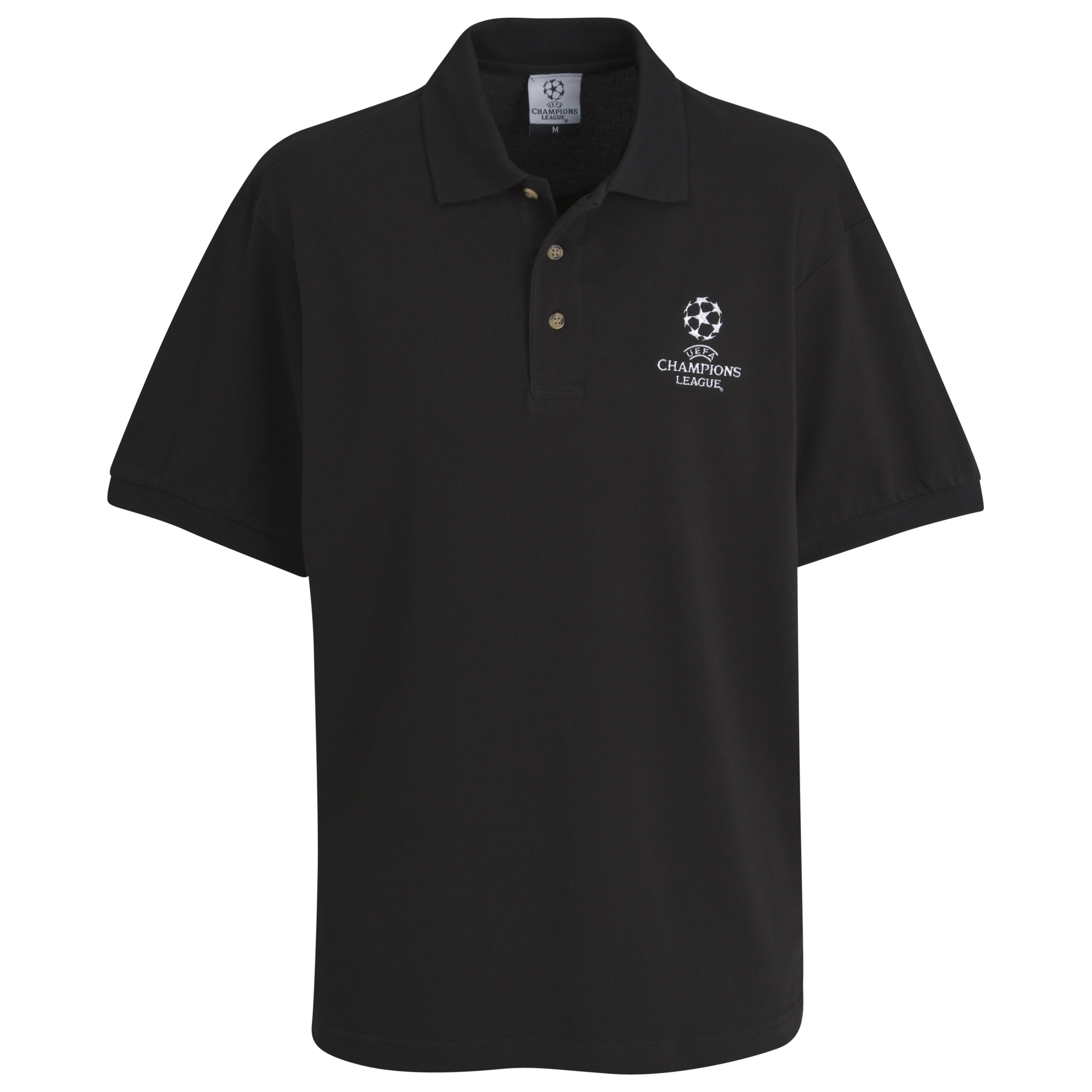 UEFA Champions League Pique Polo - Black - Kids