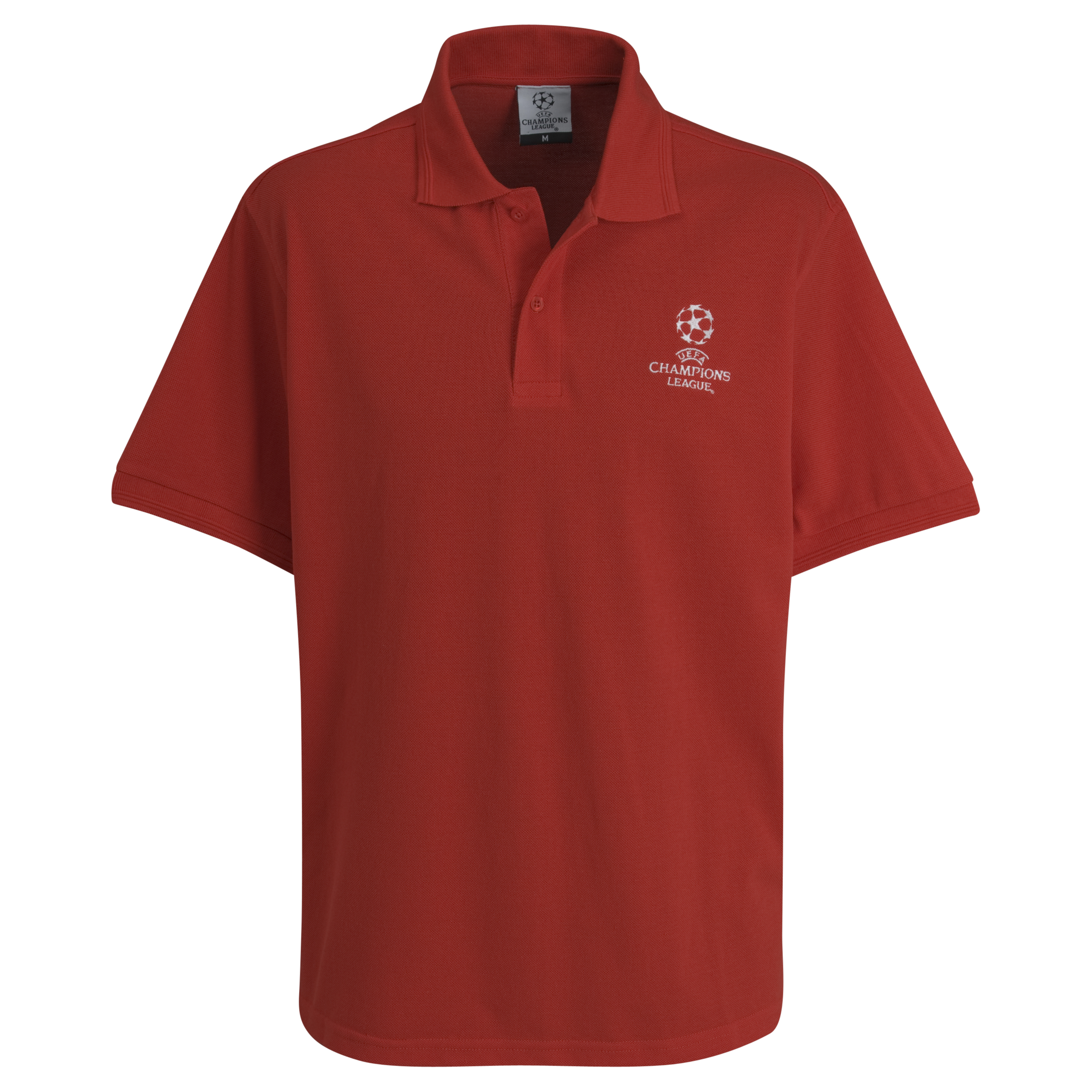 UEFA Champions League Pique Polo - Red - Kids