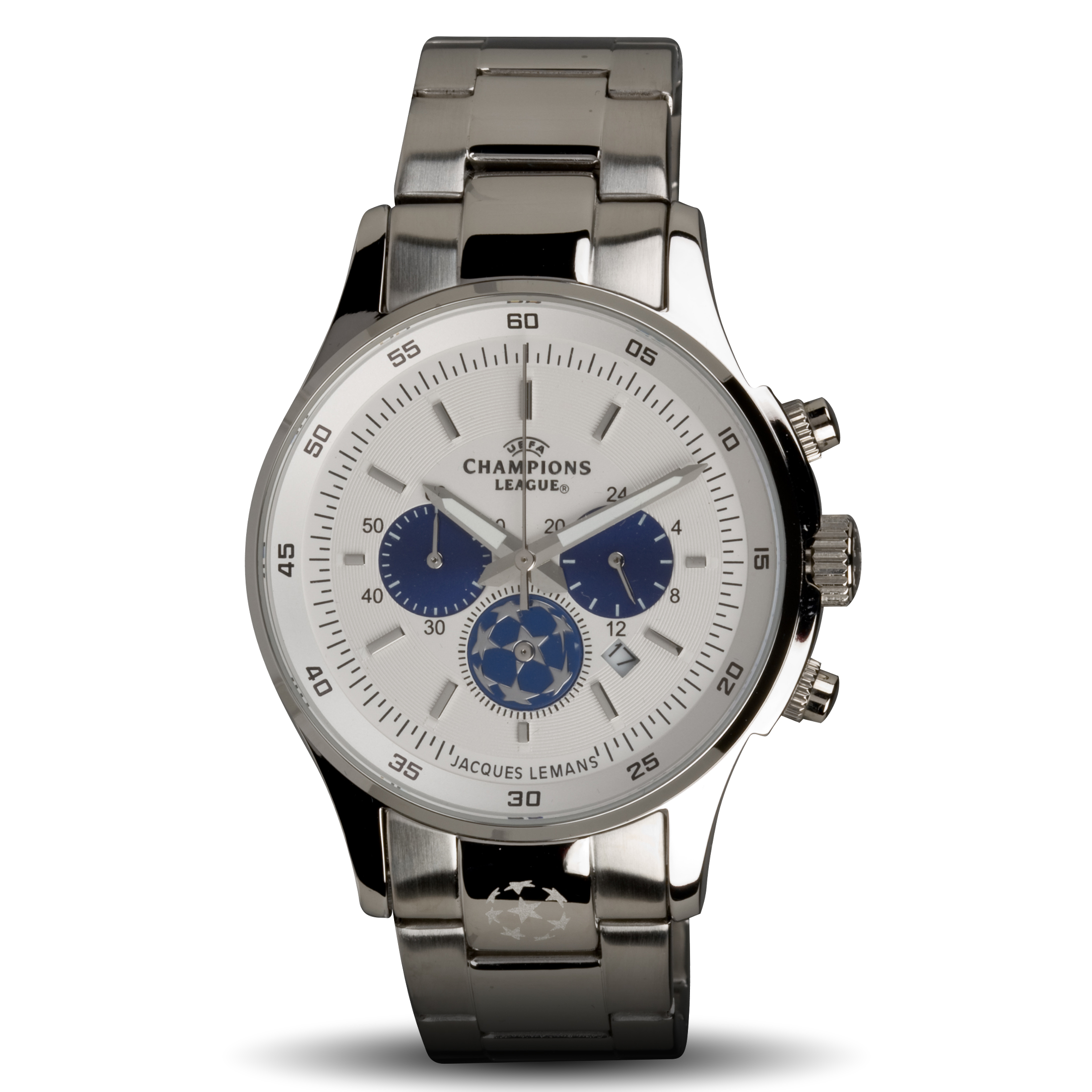 UEFA Champions League Stainless Steel Watch - White/Blue
