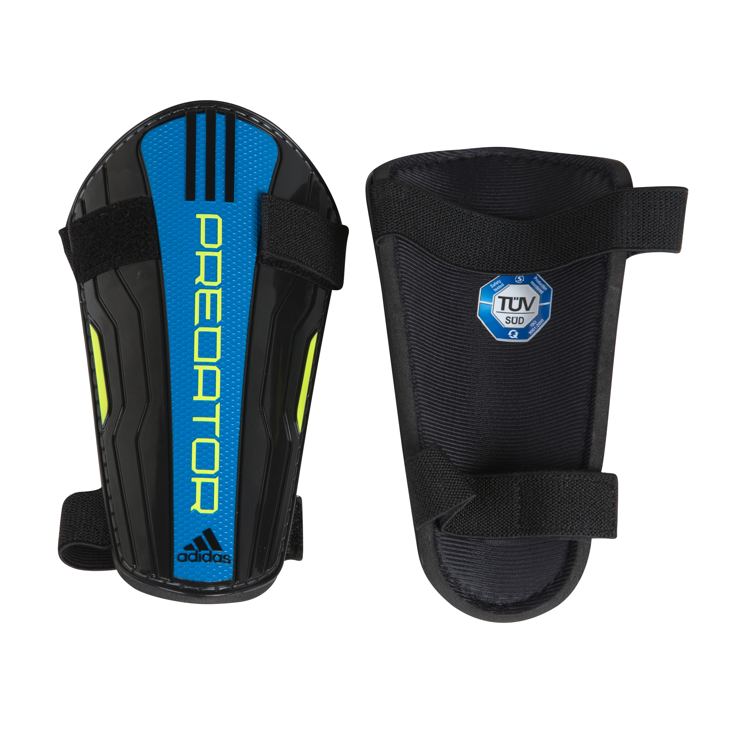adidas Predator Lite Shinguard - Black/Sharp Blue F11/Electricity