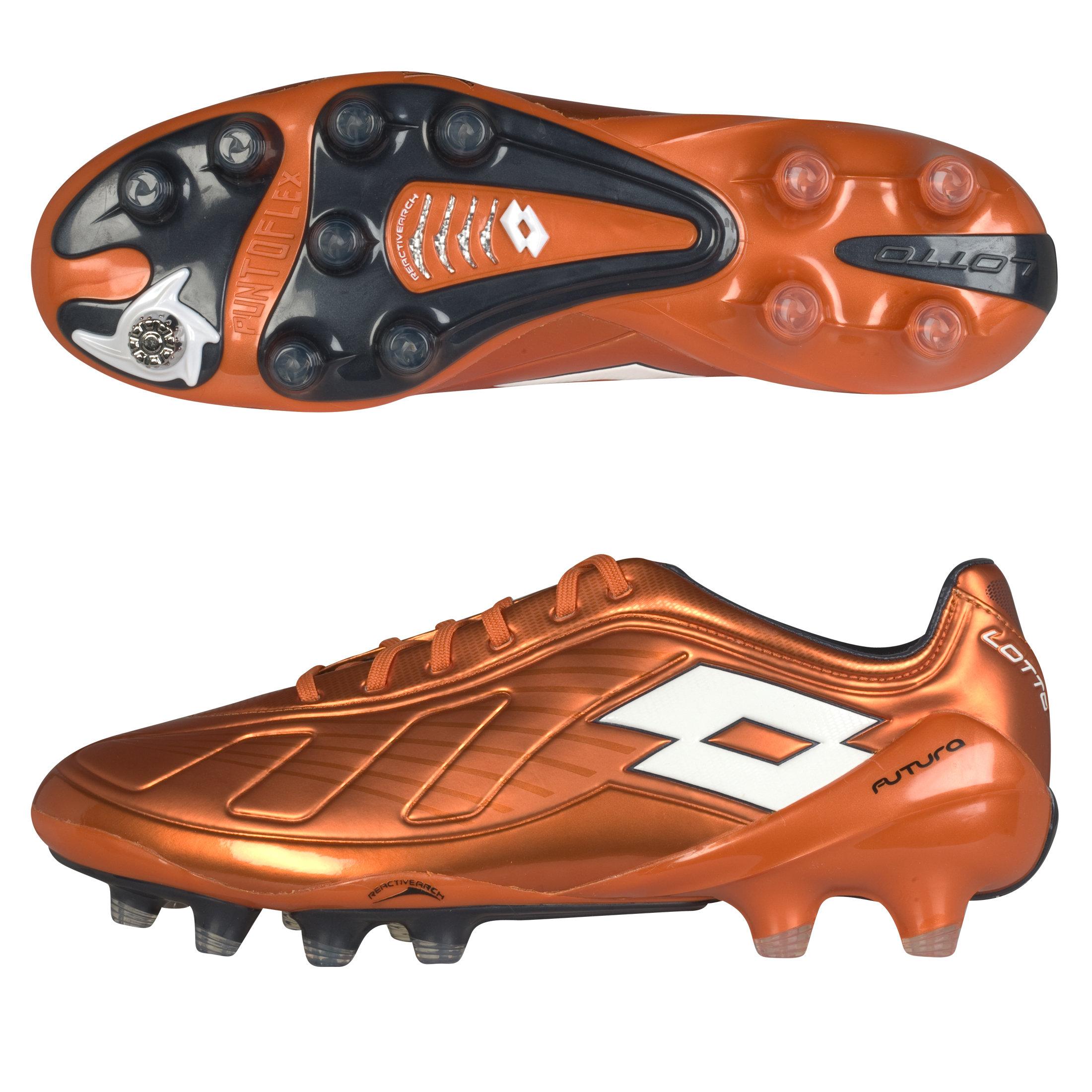 Lotto Futura 100 Firm Ground Football Boots - Dark M.Mand/Obsidian Blue