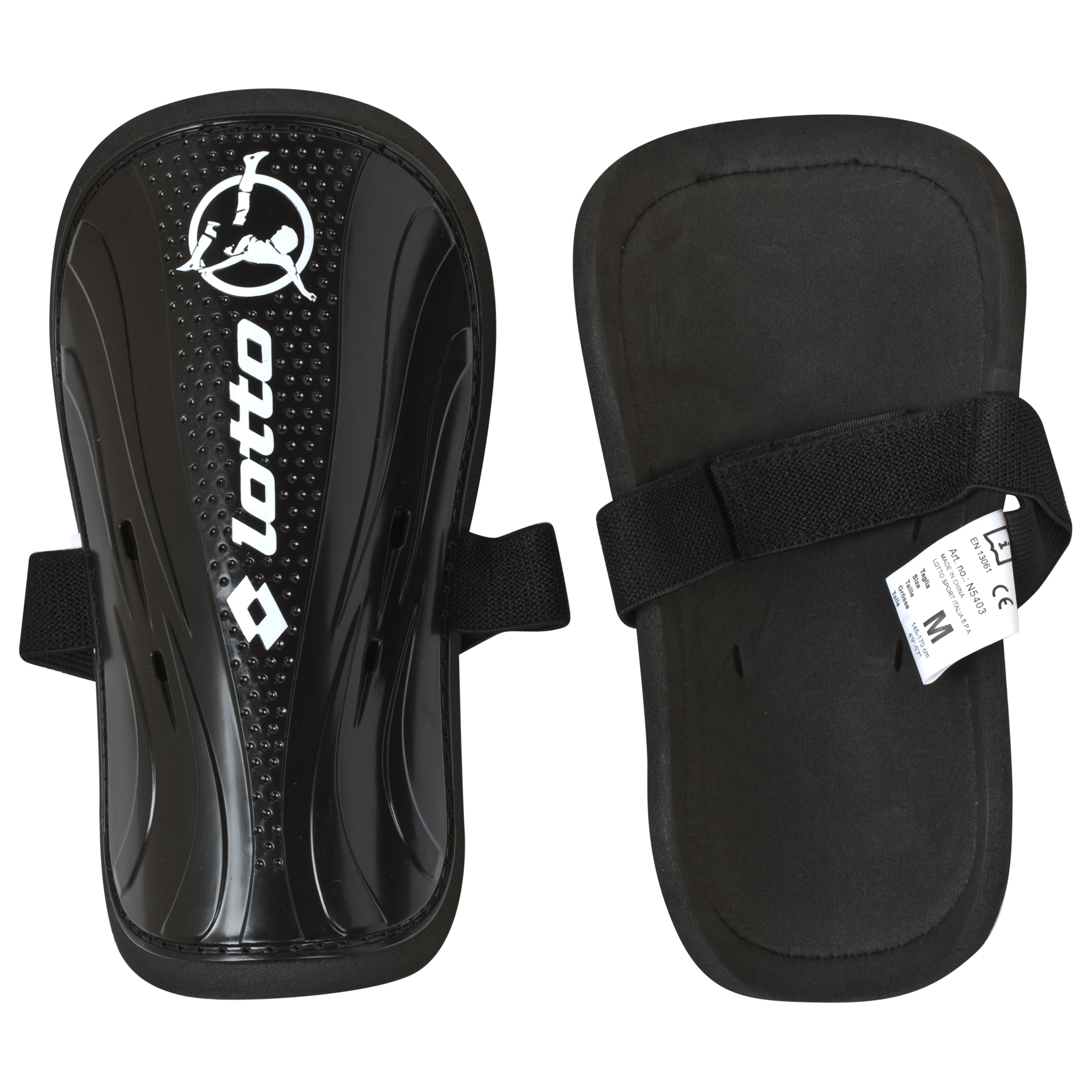 Lotto Protect 700 Shinguard - Large - Black/White