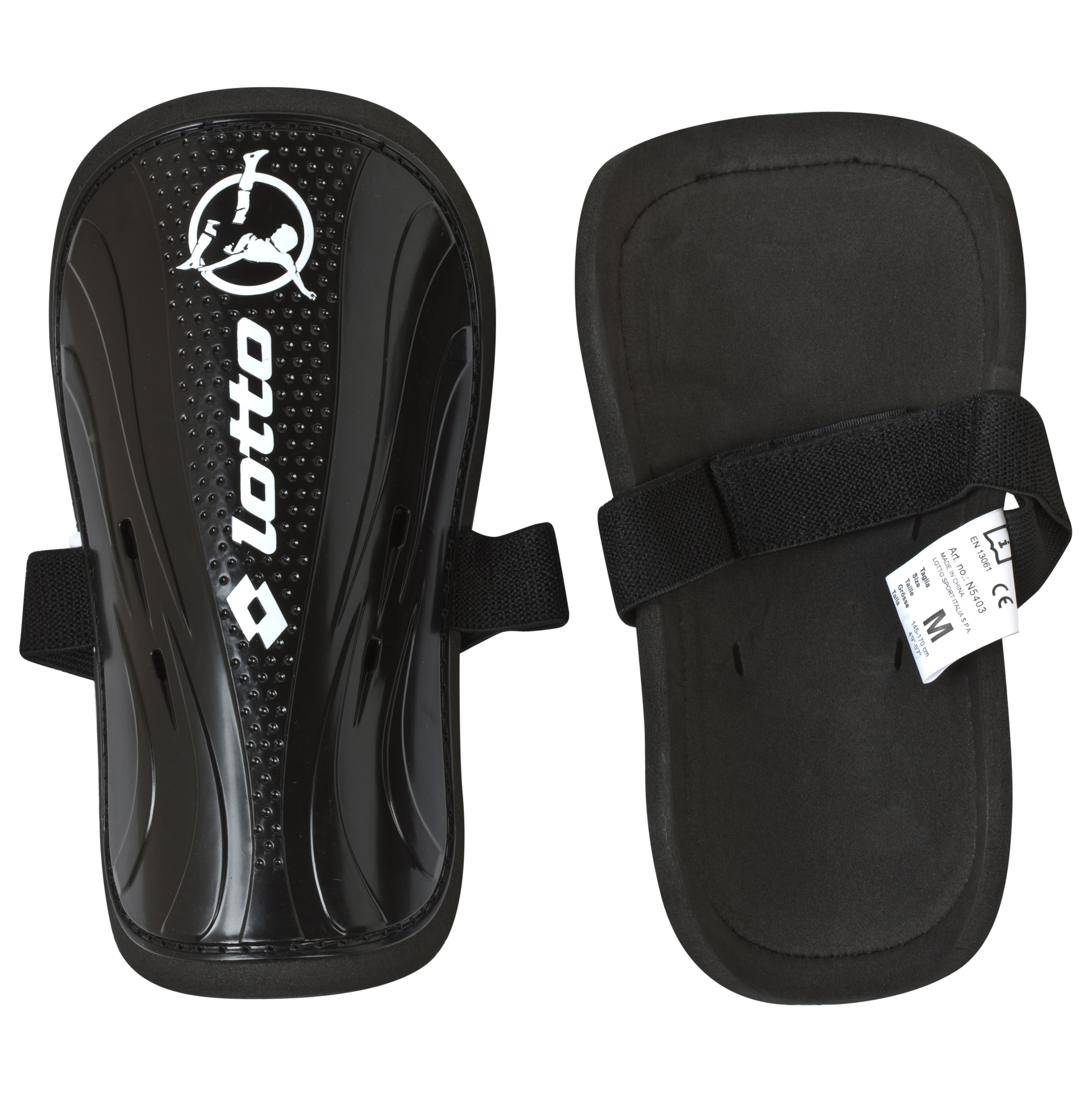Lotto Protect 700 Shinguard - Small - Black/White
