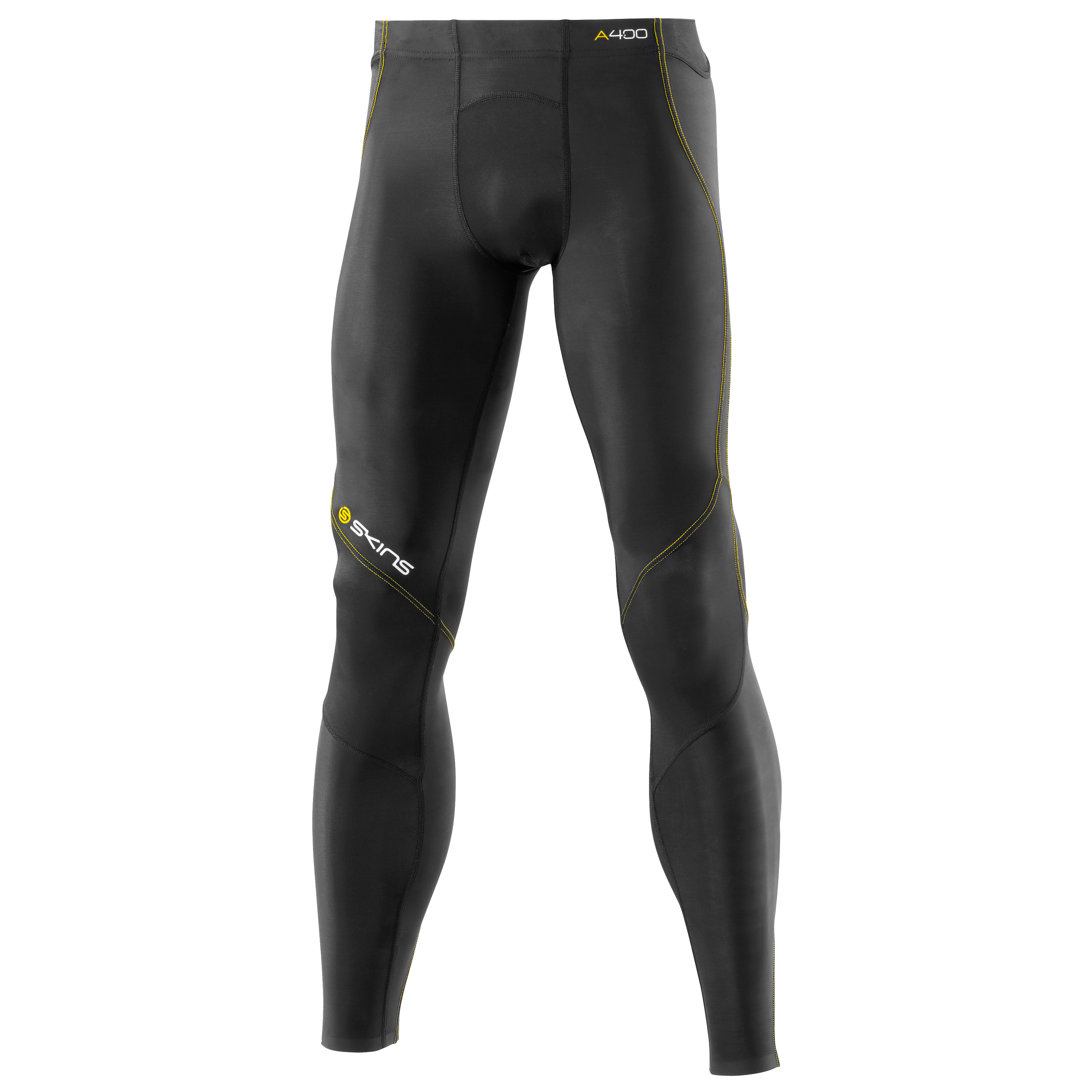 Skins A400 Active Long Tights - Black/Yellow