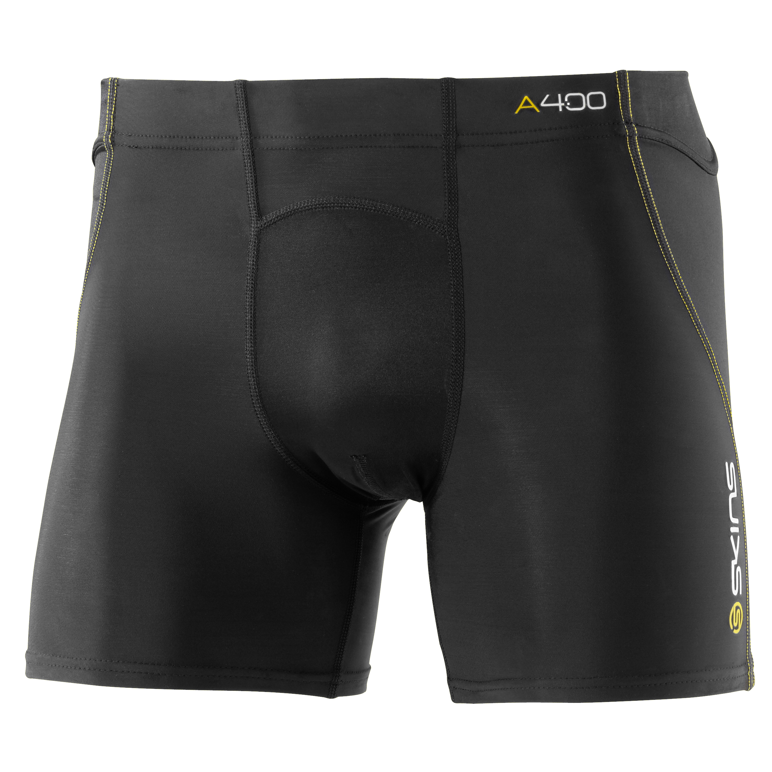 Skins A400 Active Shorts - Black/Yellow