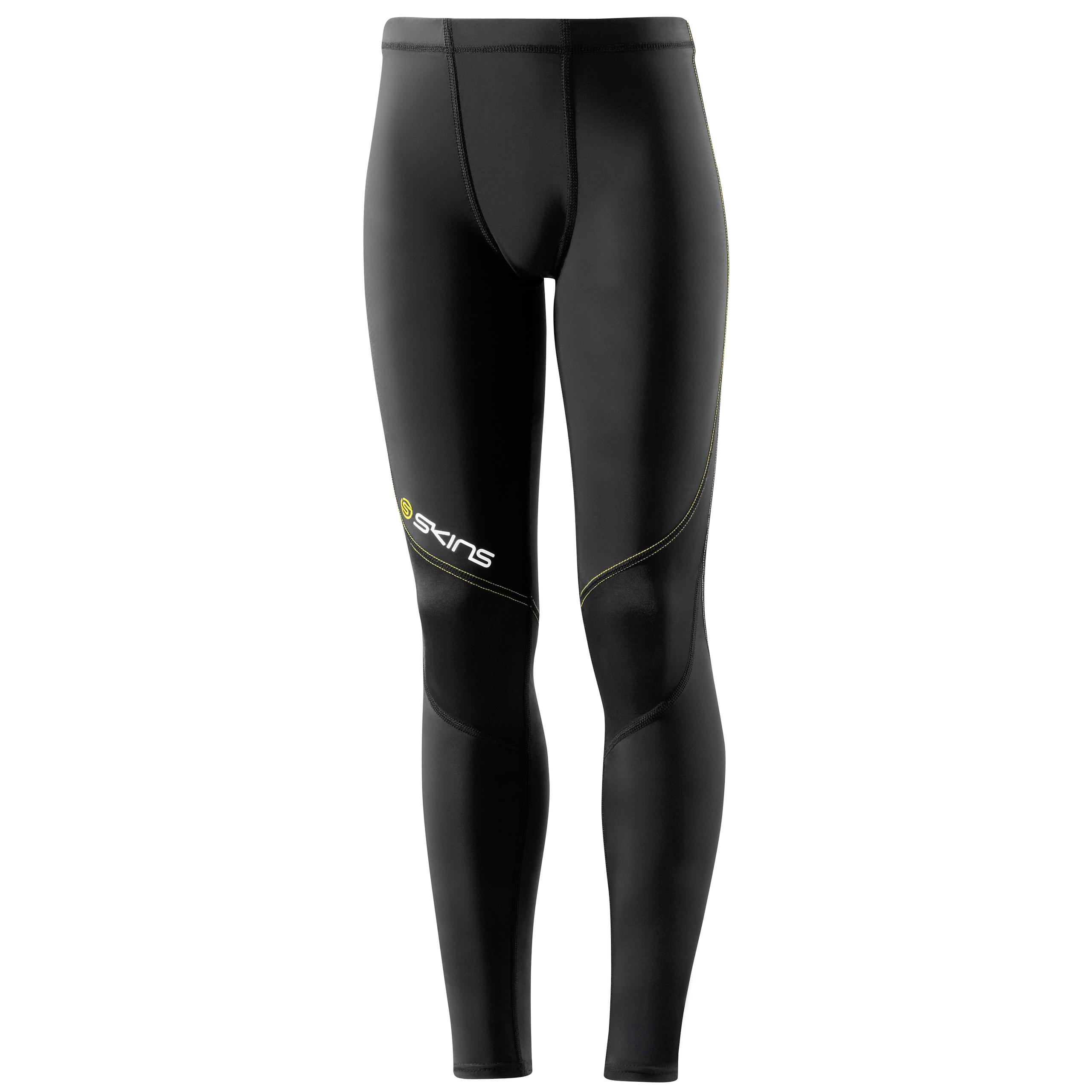 Skins A400 Active Long Tights - Black/Yellow - Kids