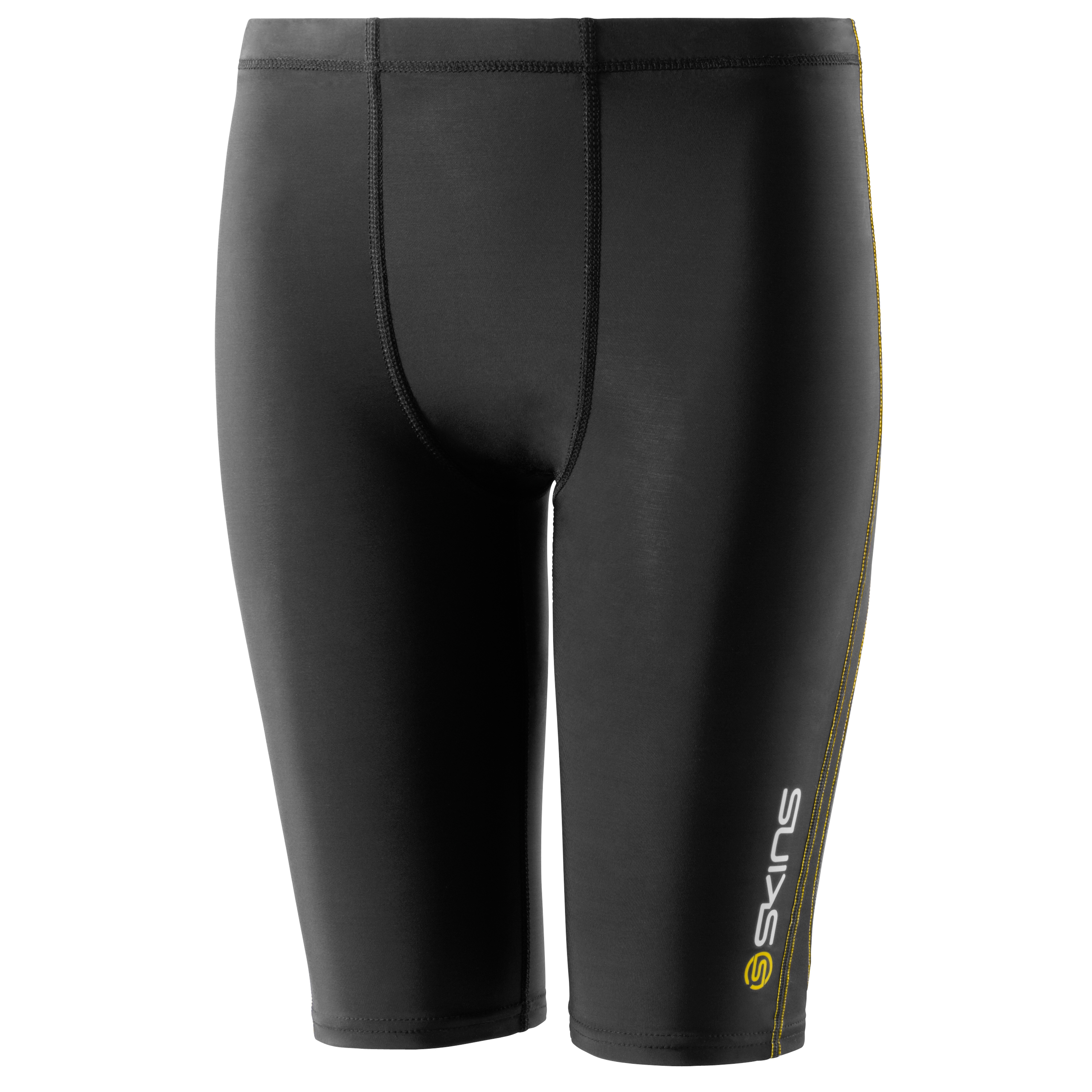 Skins A400 Active Half Tights - Black/Yellow - Kids